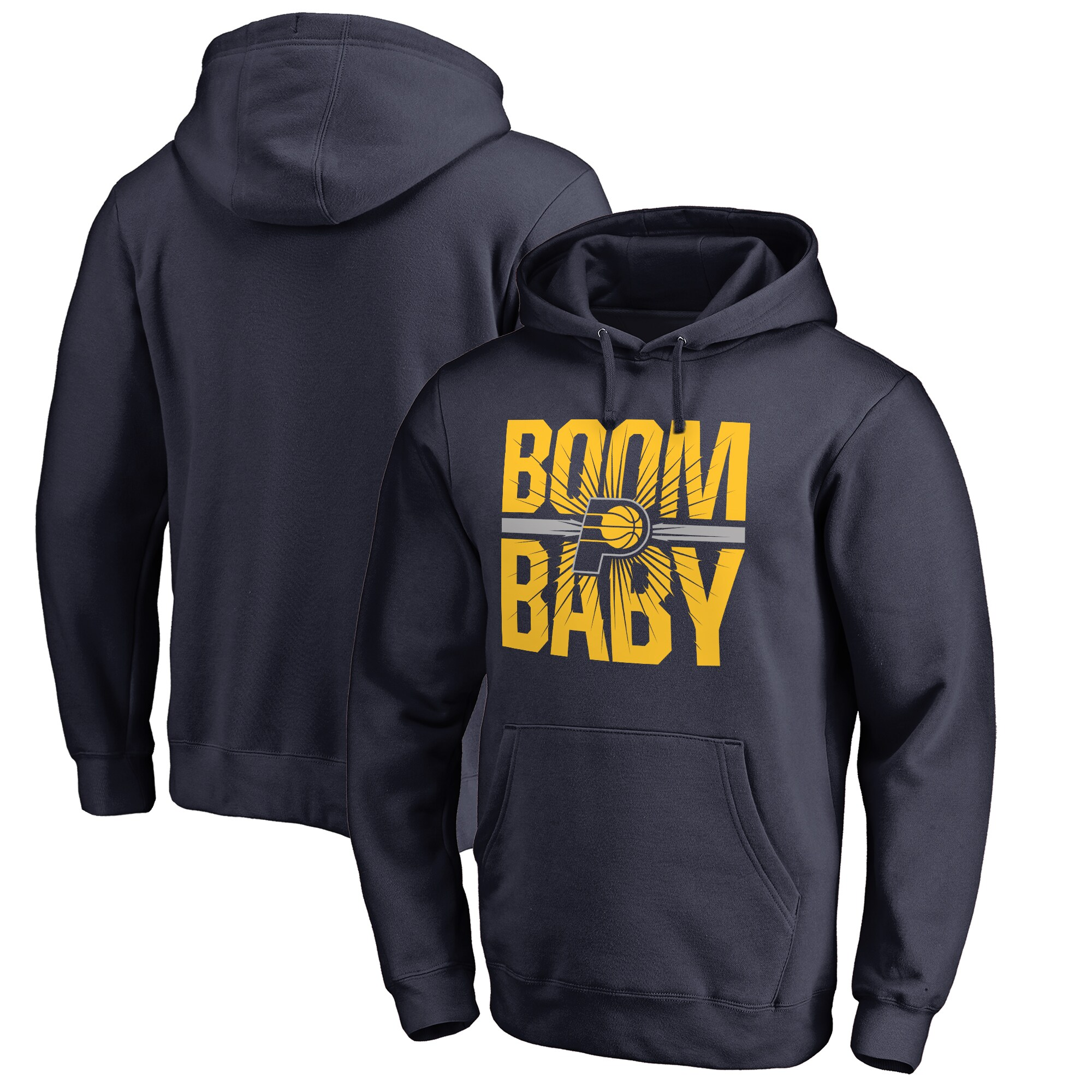 Indiana Pacers Fanatics Branded Big & Tall Boom Baby Hometown Collection Pullover Hoodie - Navy