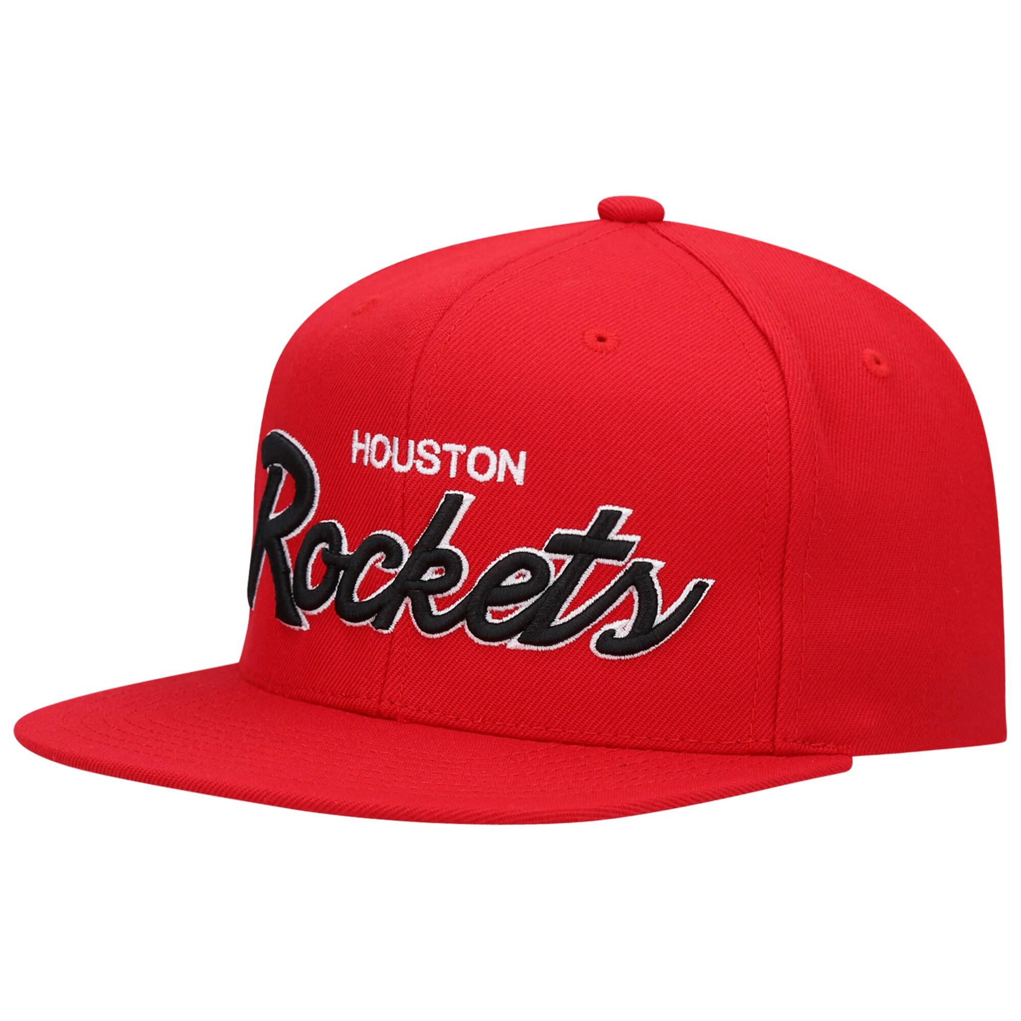Houston Rockets Mitchell & Ness 2020 Playoffs Script Snapback Hat - Red