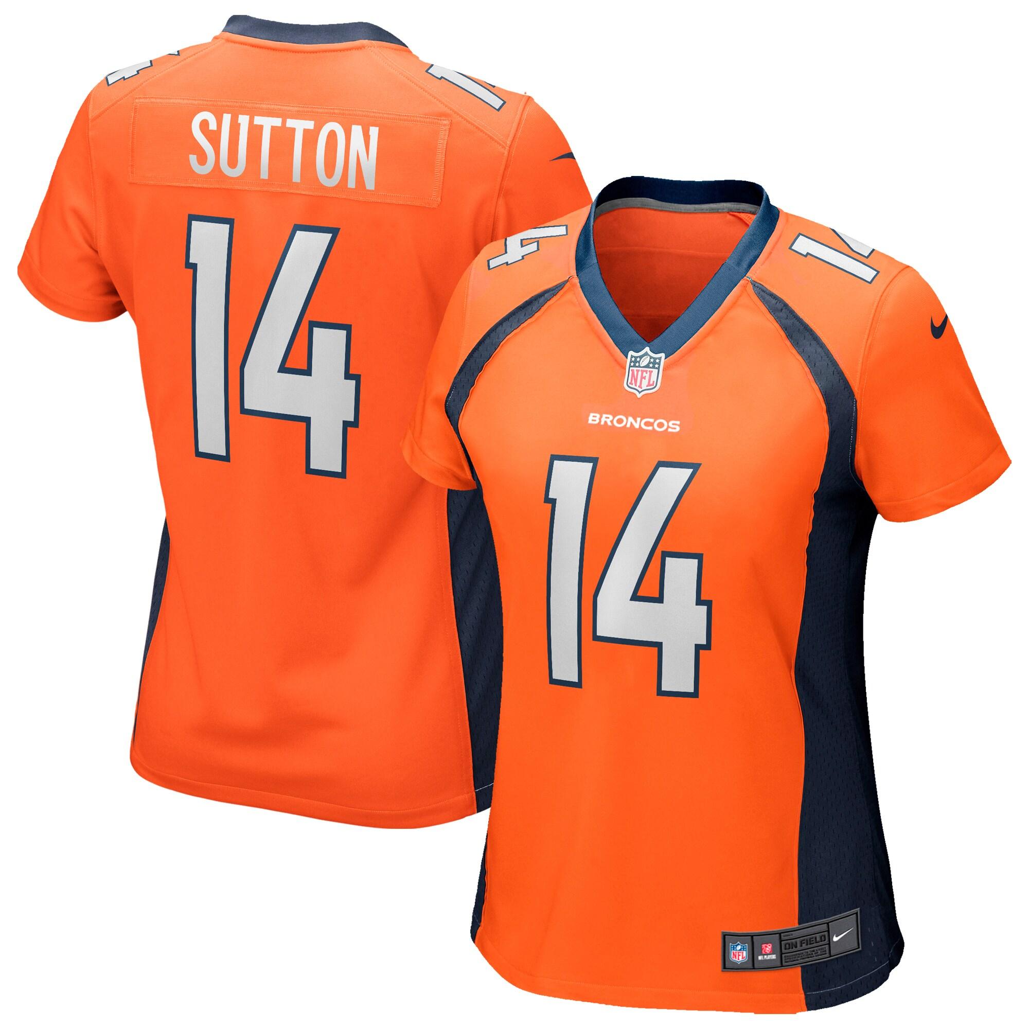 Courtland Sutton Denver Broncos Nike Women's Game Jersey - Orange