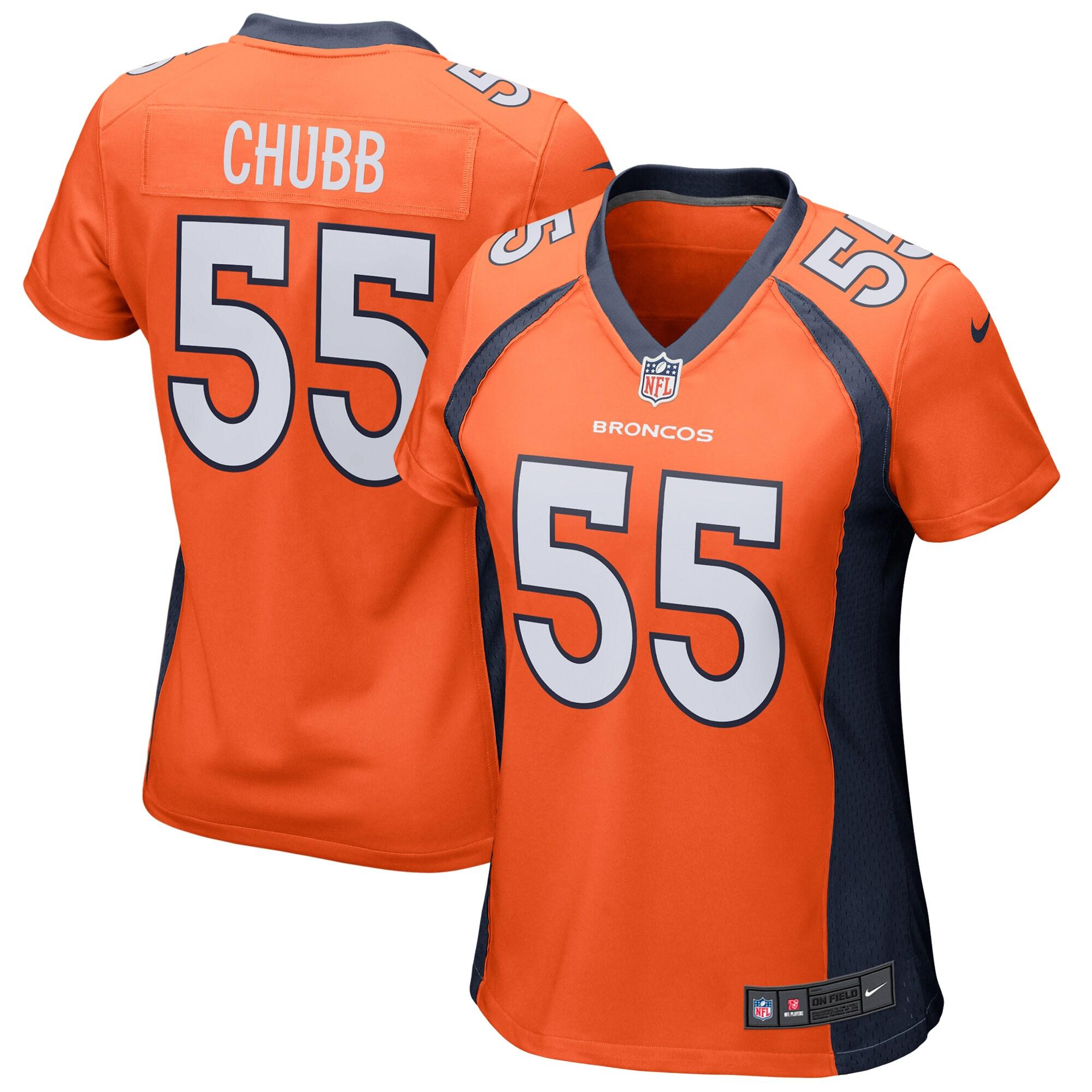 Bradley Chubb Denver Broncos Nike Women's Game Jersey - Orange