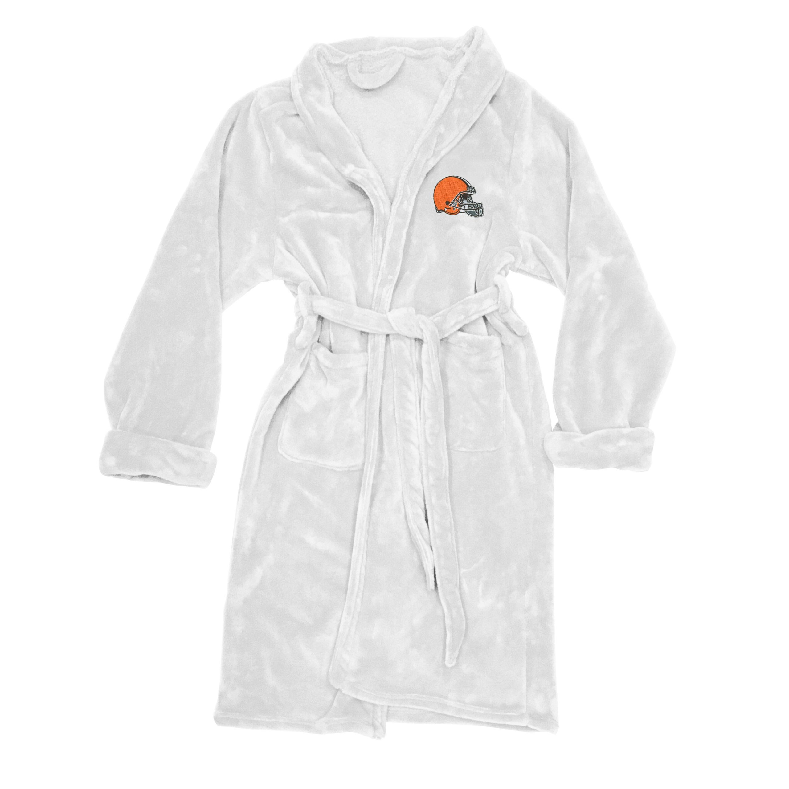 Cleveland Browns The Northwest Company Silk Touch Robe - White