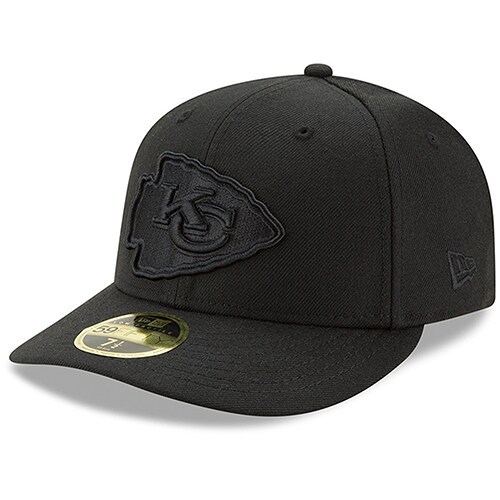 Kansas City Chiefs New Era Black On Black Low Profile 59FIFTY Fitted Hat