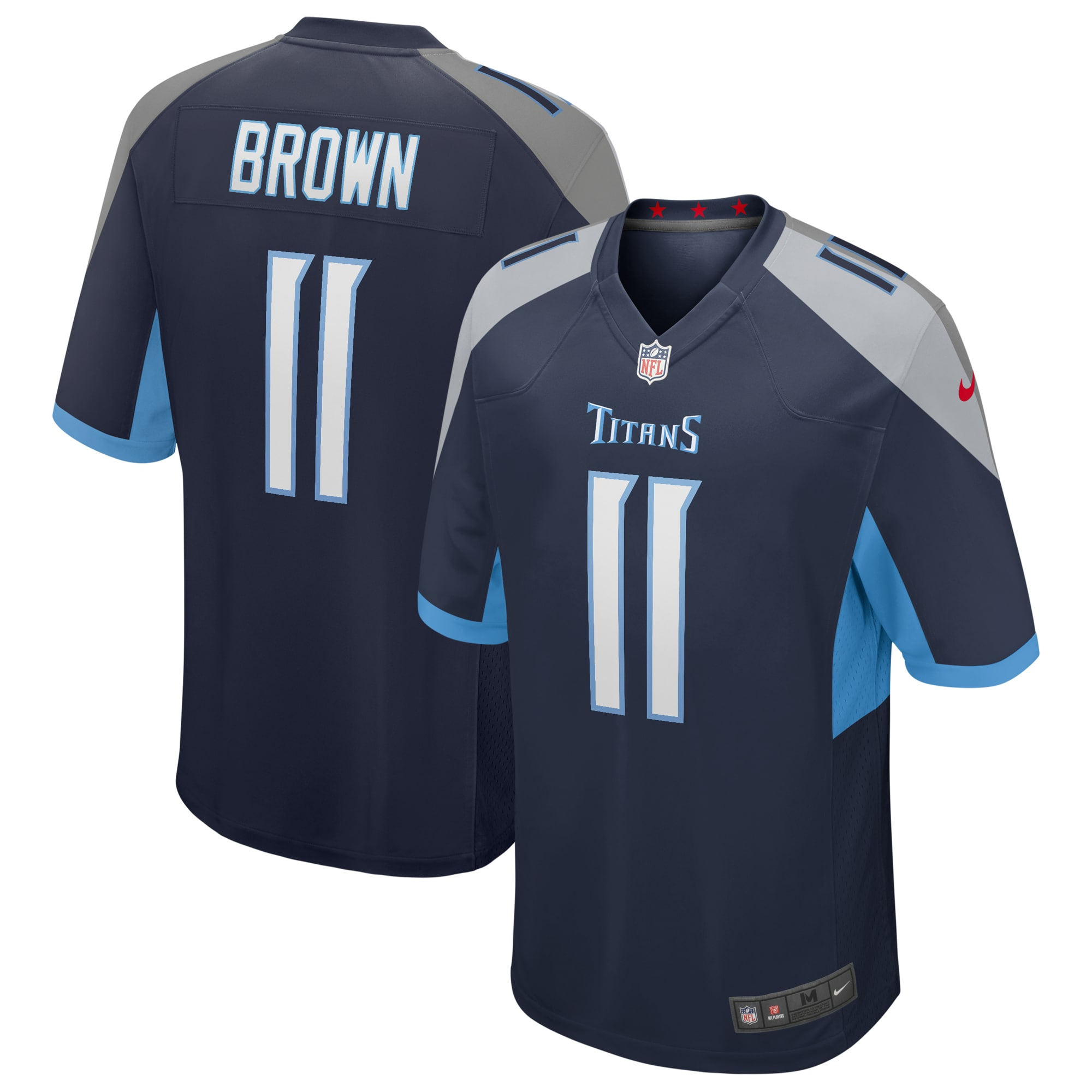 AJ Brown Tennessee Titans Nike Game Jersey - Navy