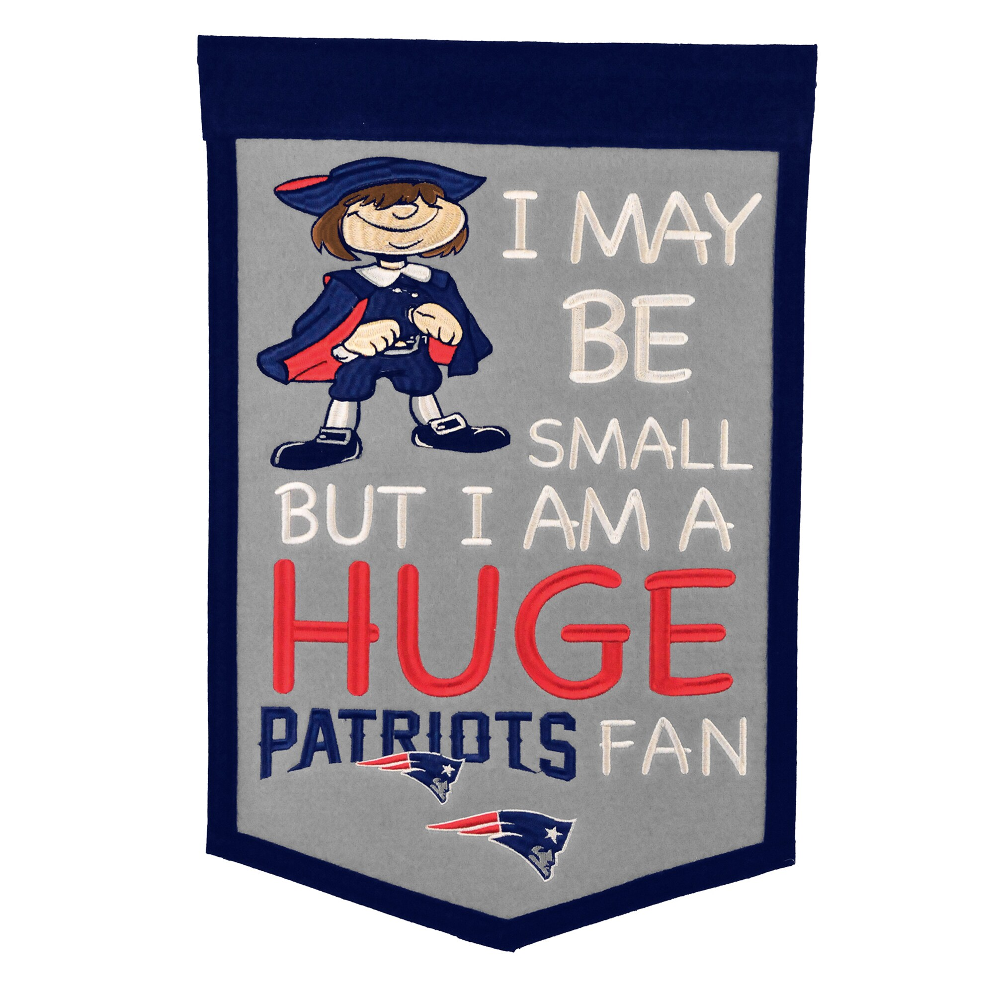 "New England Patriots 12"" x 18"" Lil Fan Traditions Banner"