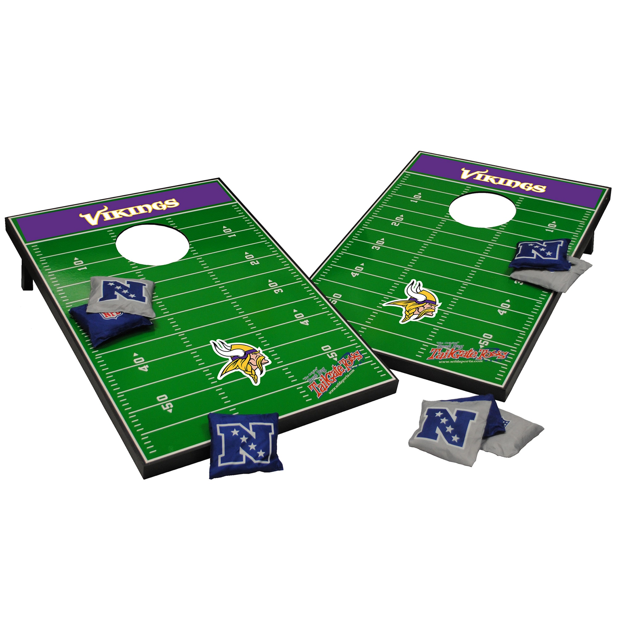 Minnesota Vikings 2' x 3' Cornhole Board Tailgate Toss Set