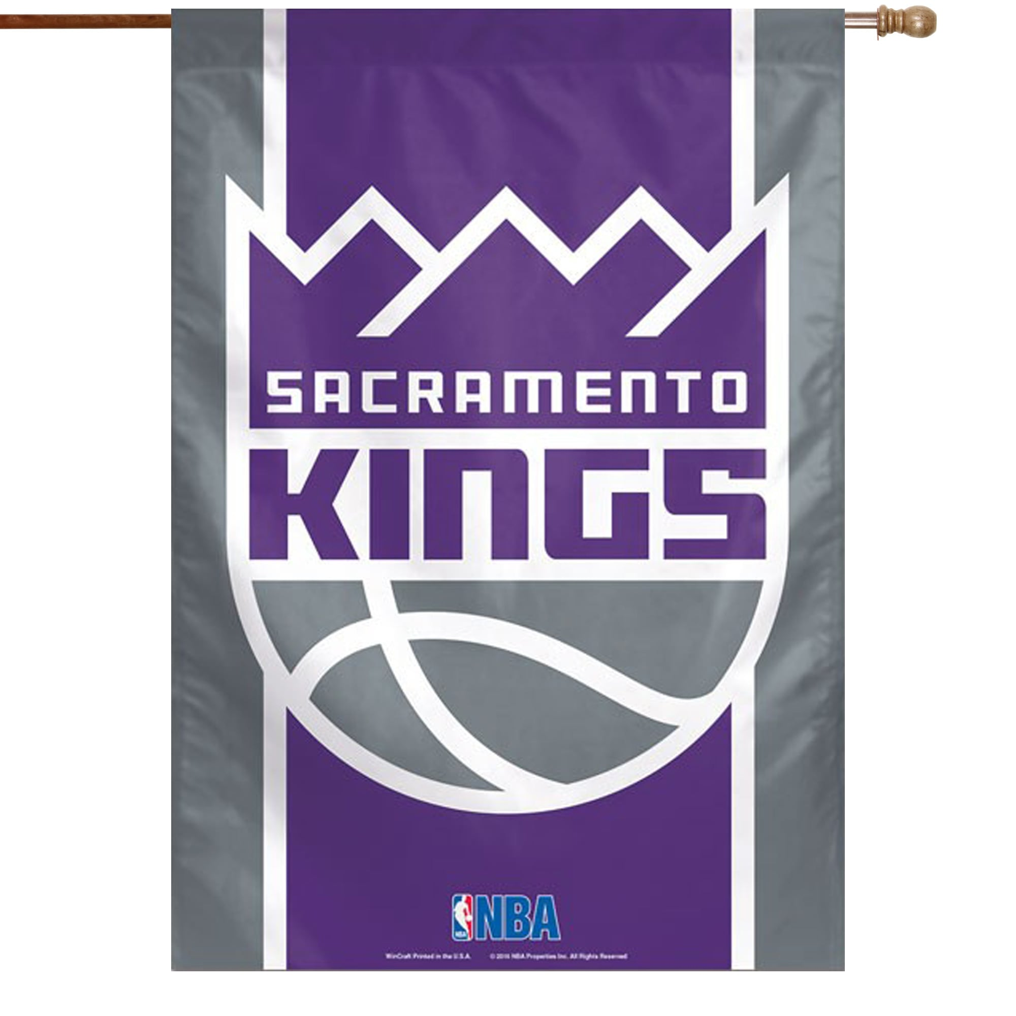 "Sacramento Kings WinCraft 28"" x 40"" Double-Sided Vertical Banner"