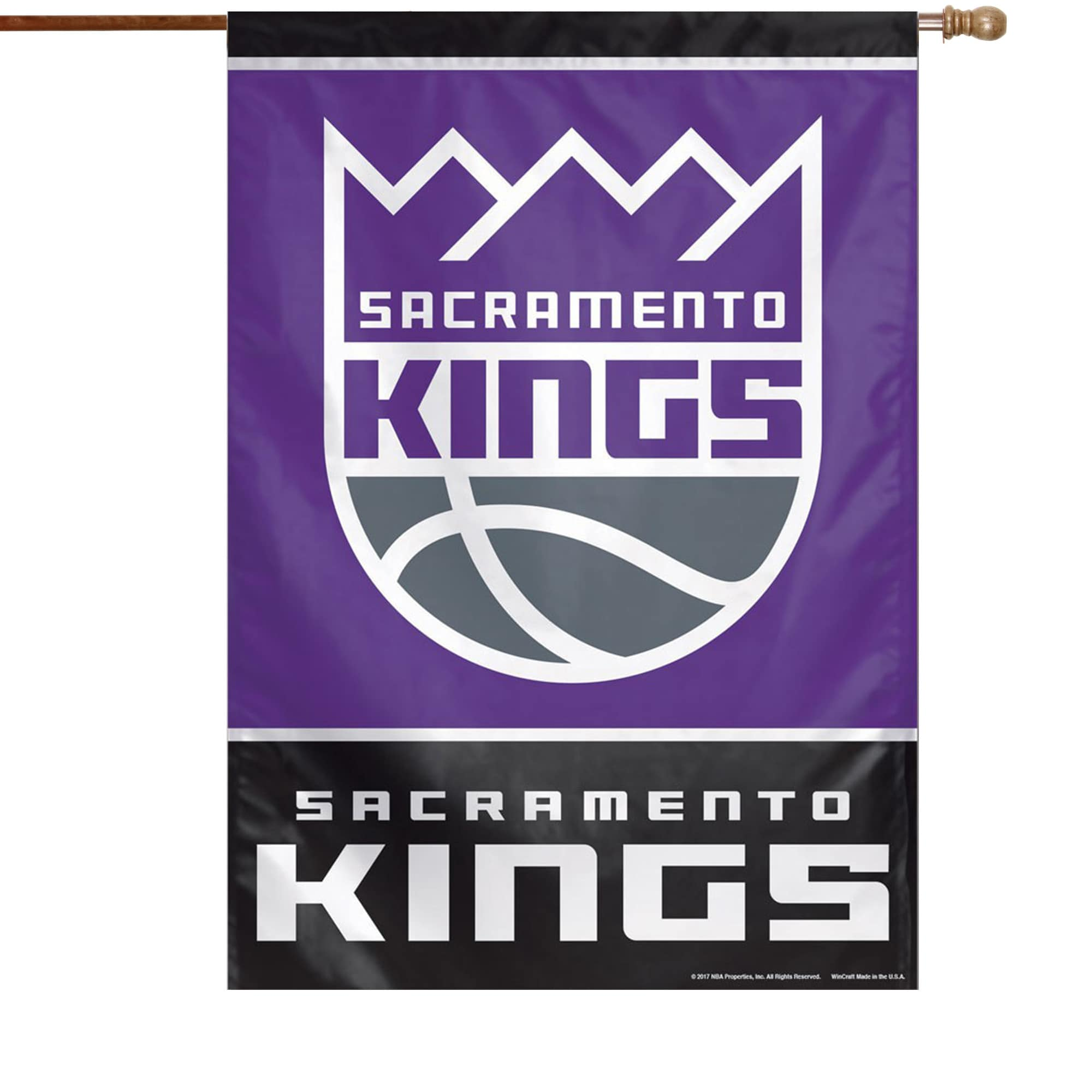 "Sacramento Kings WinCraft 28"" x 40"" Primary Logo Single-Sided Vertical Banner"