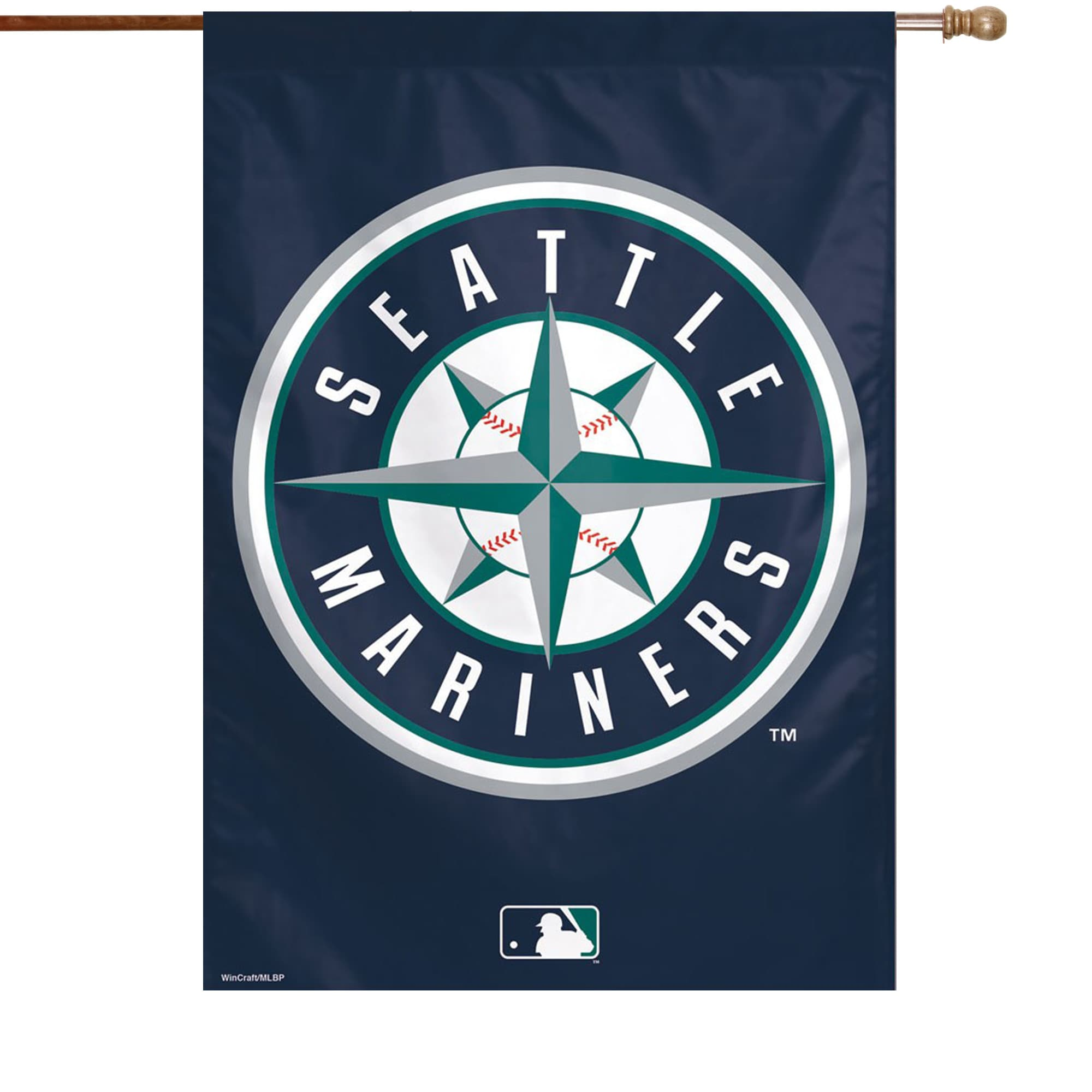 """Seattle Mariners WinCraft 28"""" x 40"""" Circle Logo Single-Sided Vertical Banner"""