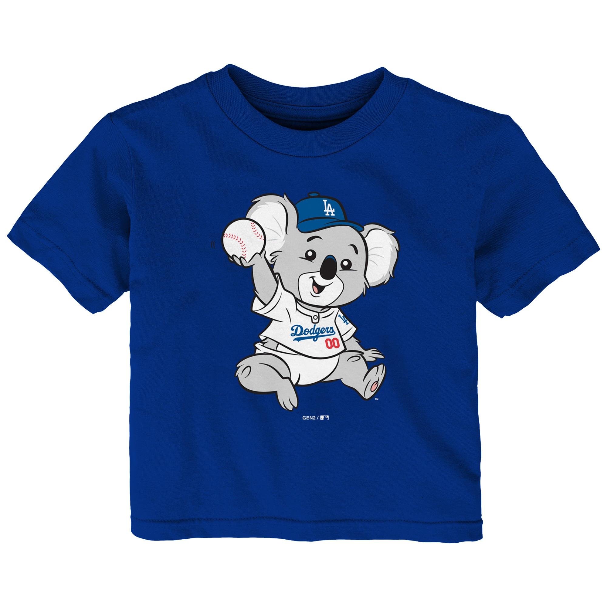Los Angeles Dodgers Infant Baby Mascot T-Shirt - Royal