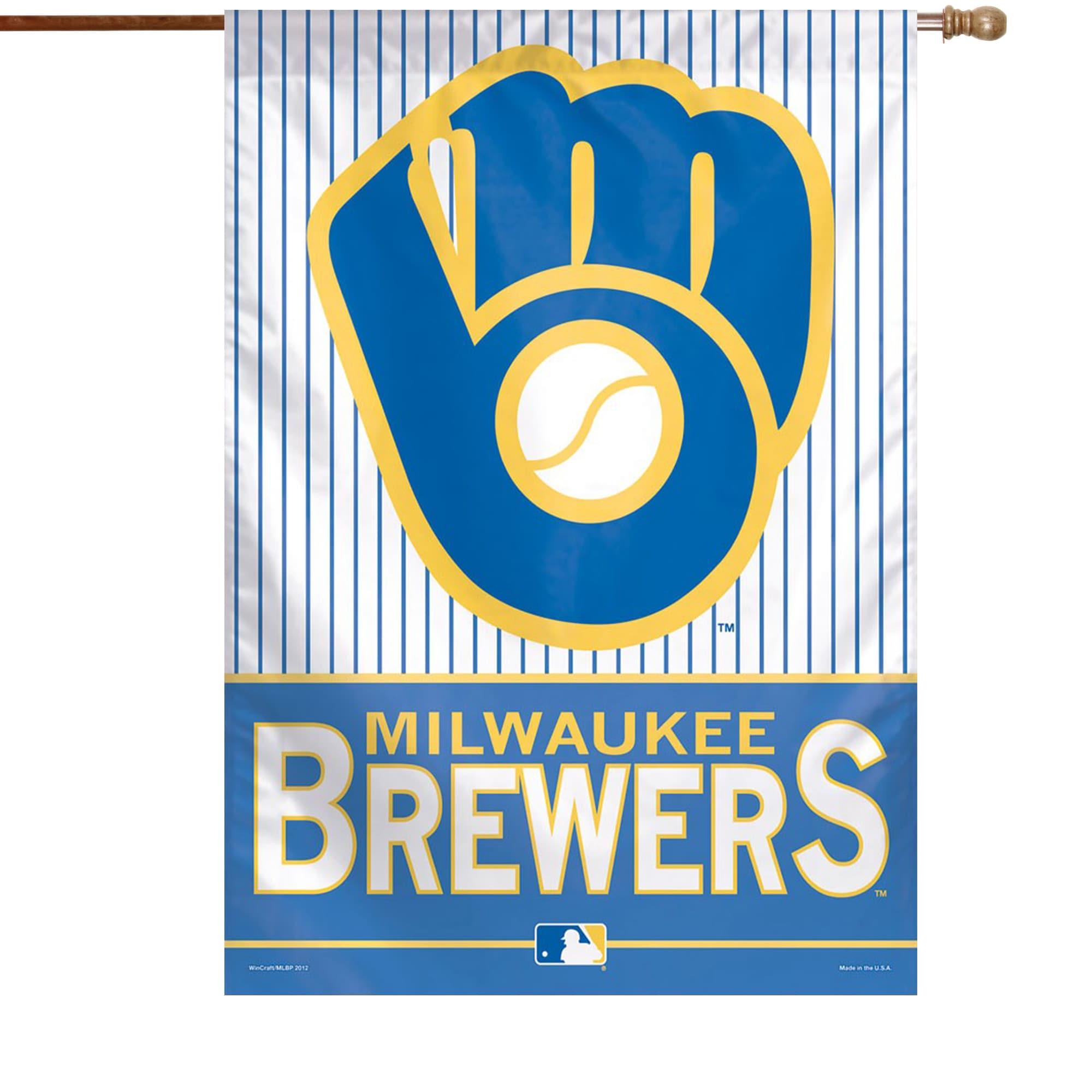 "Milwaukee Brewers WinCraft 28"" x 40"" Glove Logo Single-Sided Vertical Banner"