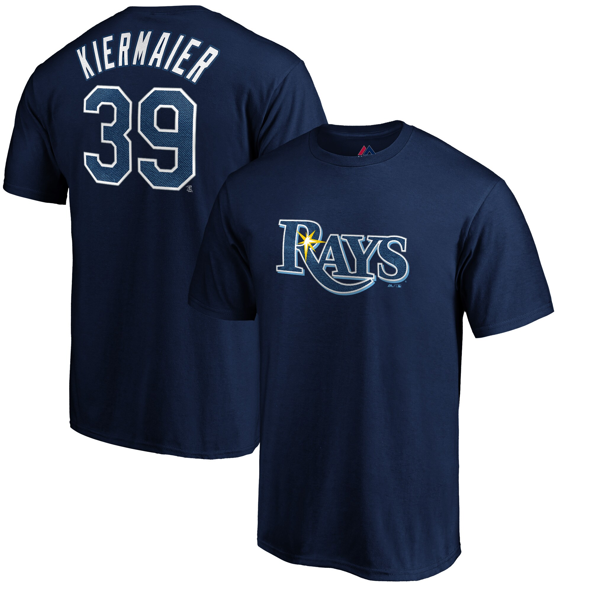 Kevin Kiermaier Tampa Bay Rays Majestic Official Name & Number T-Shirt - Navy