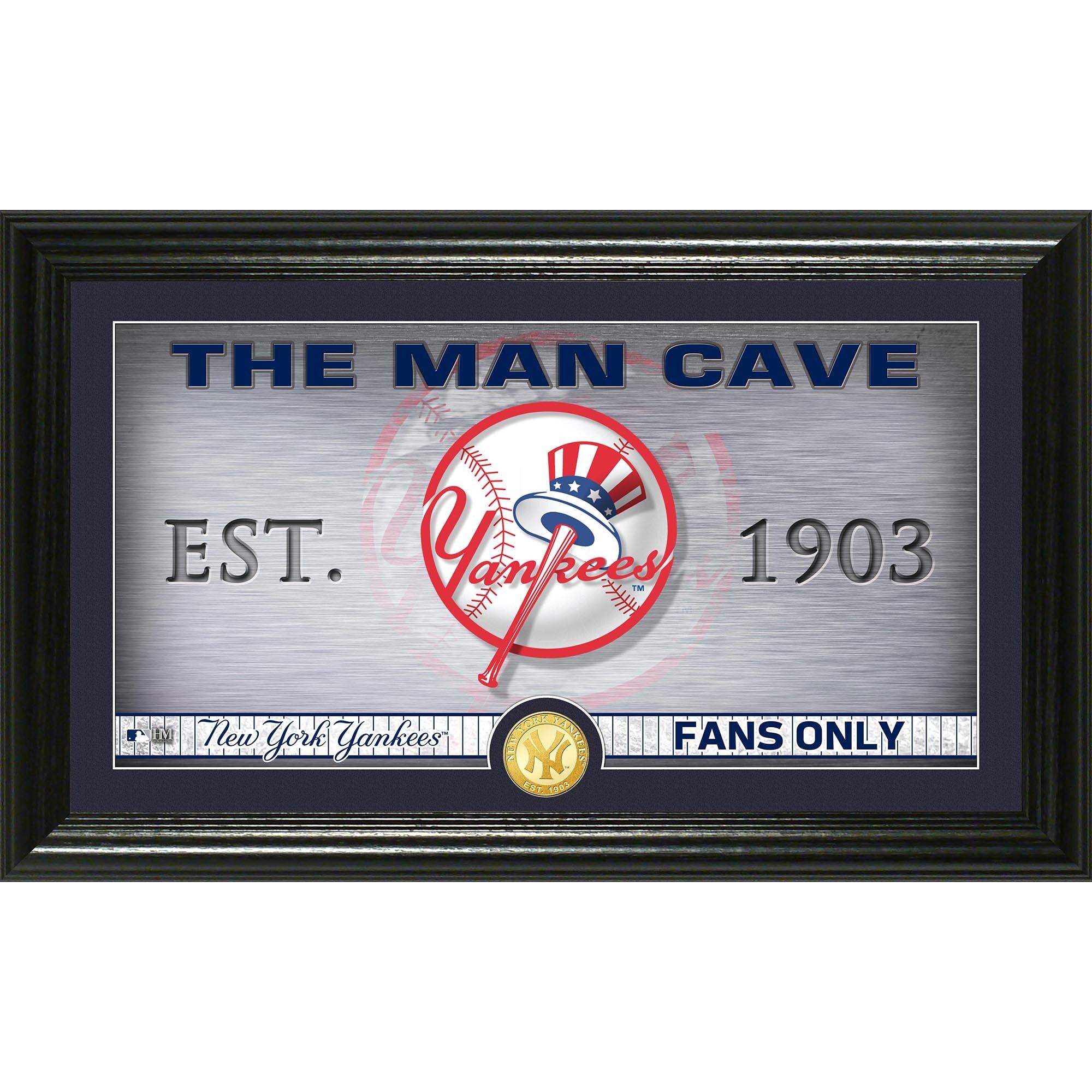 "New York Yankees Highland Mint 12"" x 20"" Man Cave Pano Photo Mint"