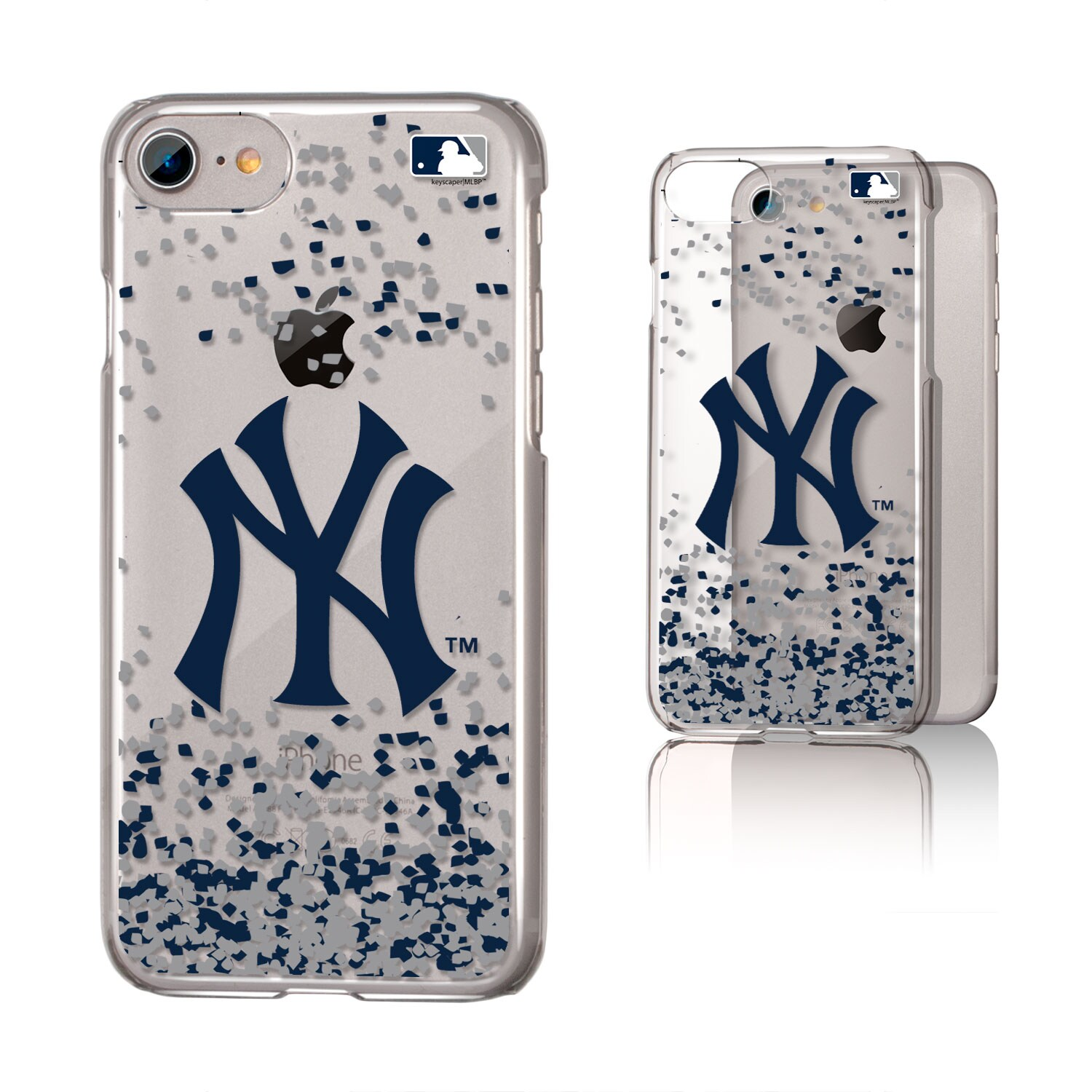 New York Yankees Galaxy iPhone 6/6S/7/8 Confetti Design Clear Case