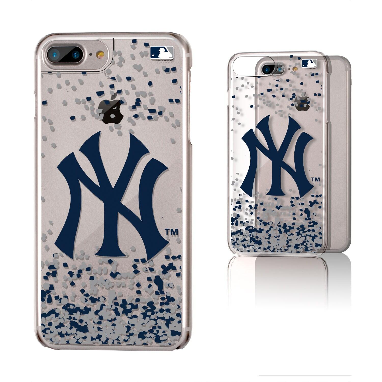 New York Yankees Galaxy iPhone 6 Plus/6S Plus/7 Plus/8 Plus Confetti Design Clear Case
