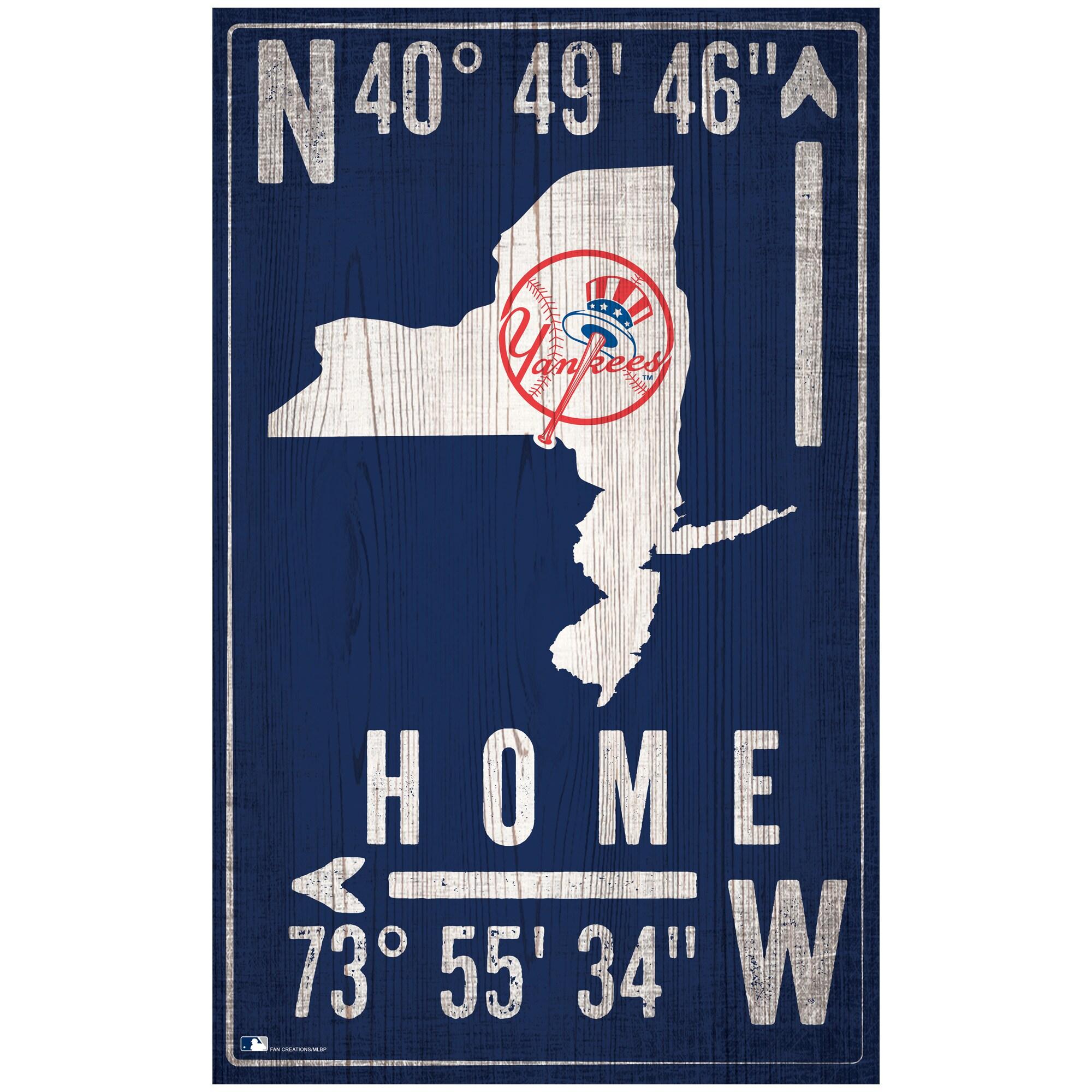 "New York Yankees 11"" x 19"" Coordinate Sign"
