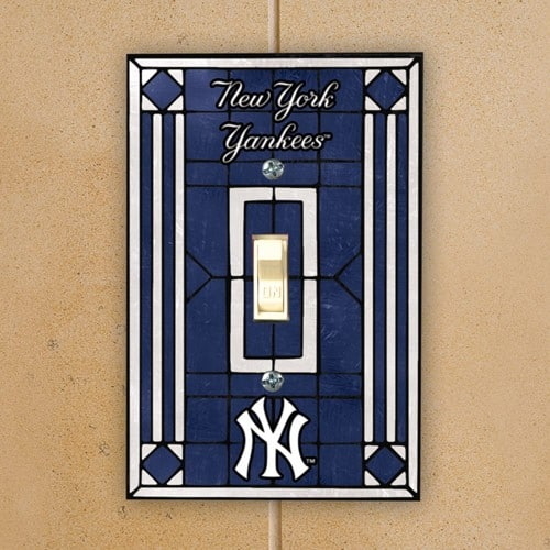 New York Yankees Art Glass Switch Plate Cover