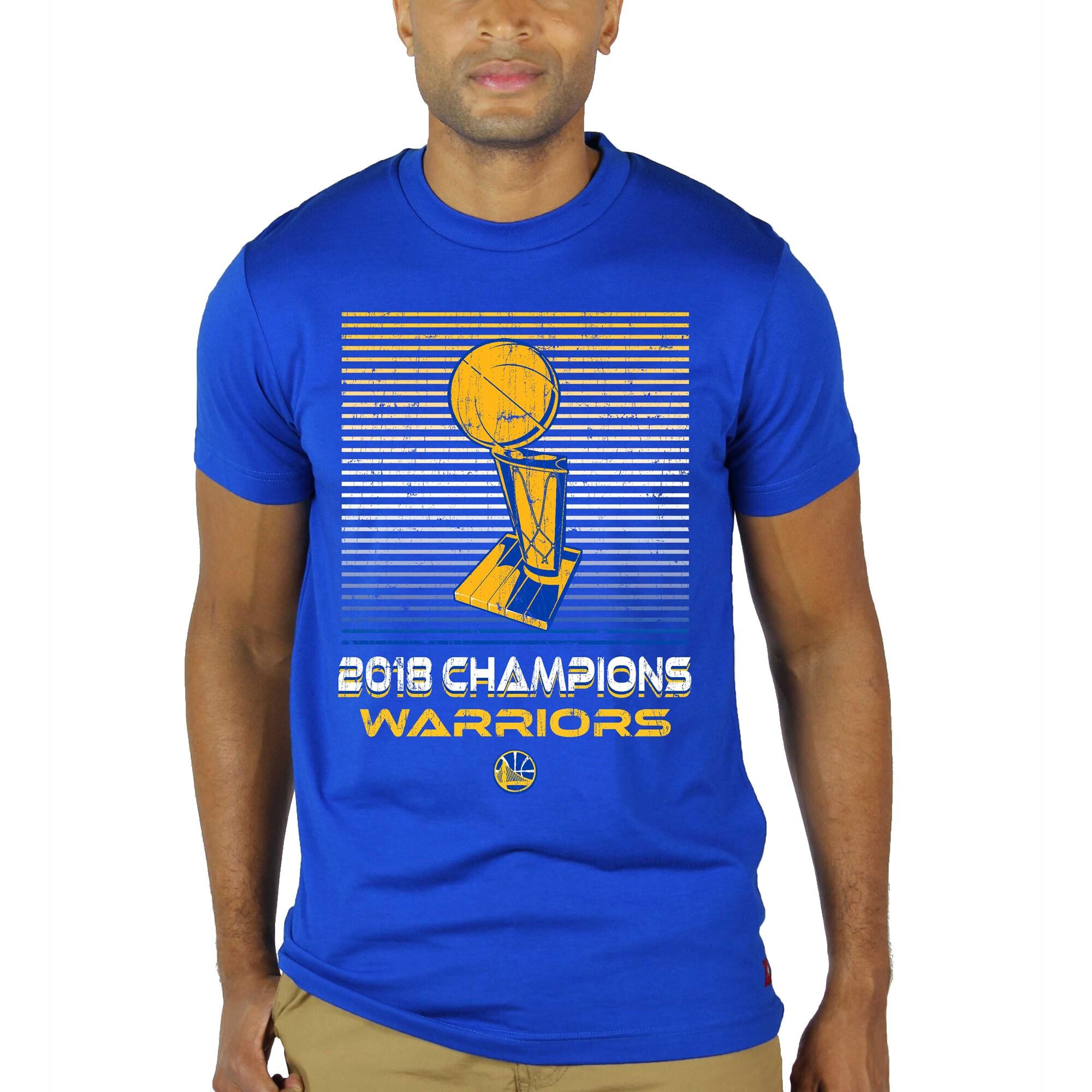 Golden State Warriors Sportiqe 2018 NBA Finals Champions Trophy Barwin Tri-Blend T-Shirt - Royal
