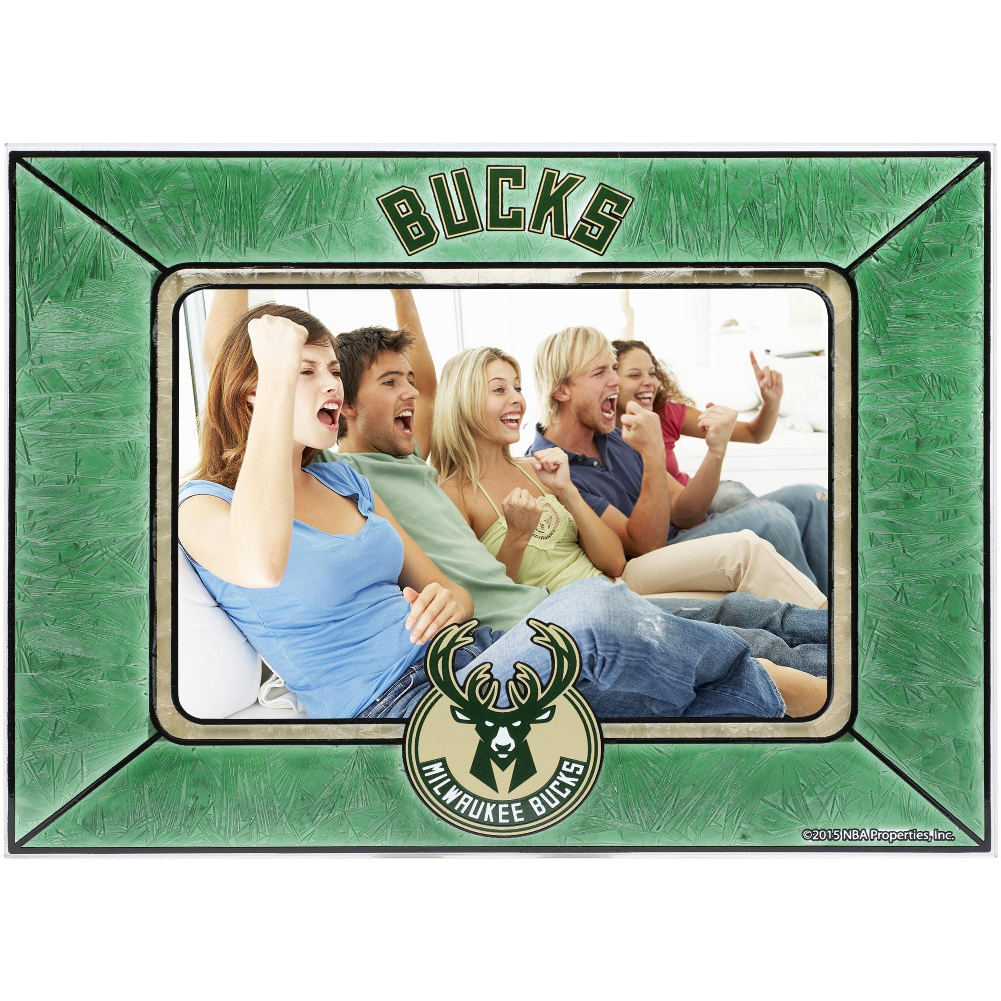 Milwaukee Bucks Horizontal Art Glass Frame
