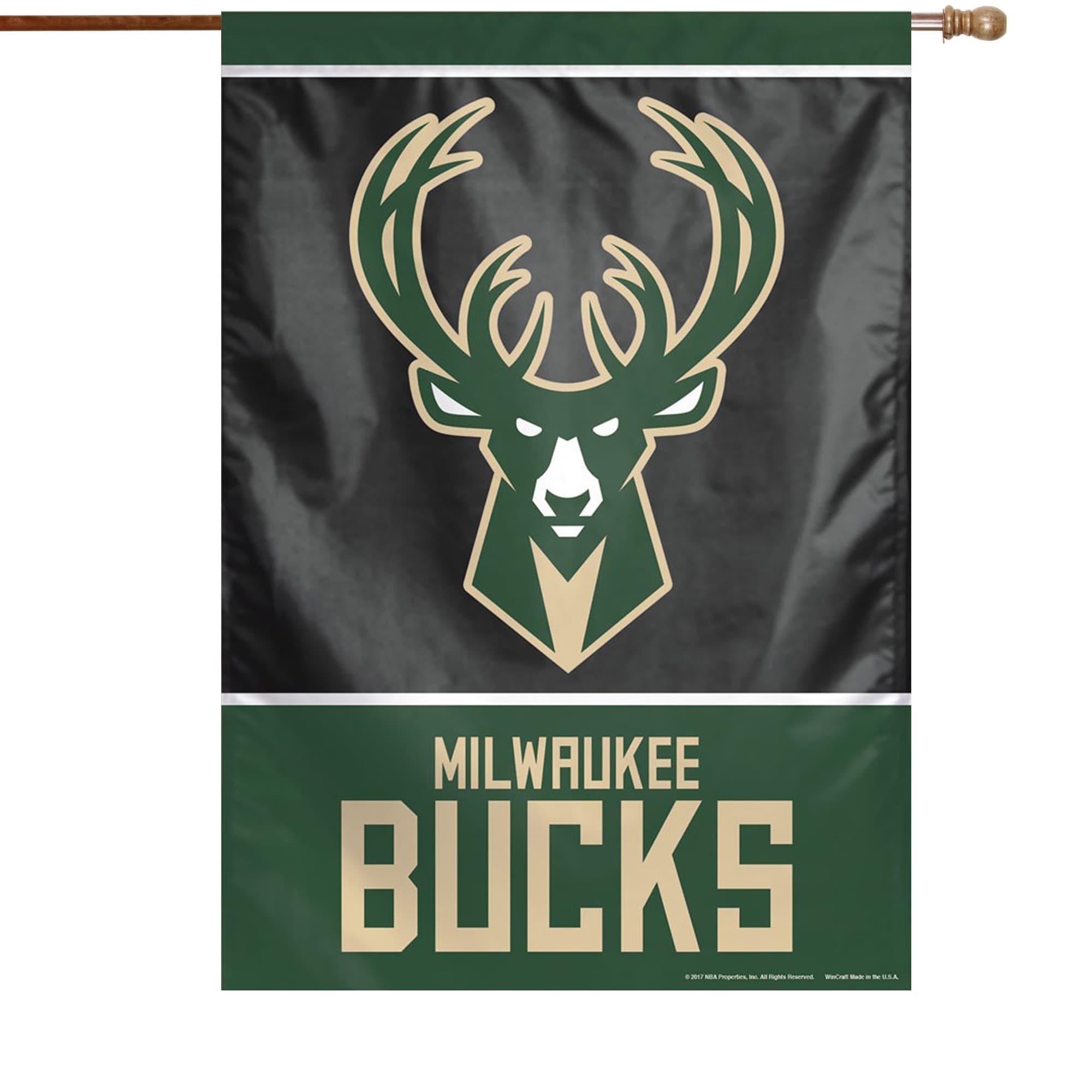 "Milwaukee Bucks WinCraft 28"" x 40"" Primary Logo Single-Sided Vertical Banner"