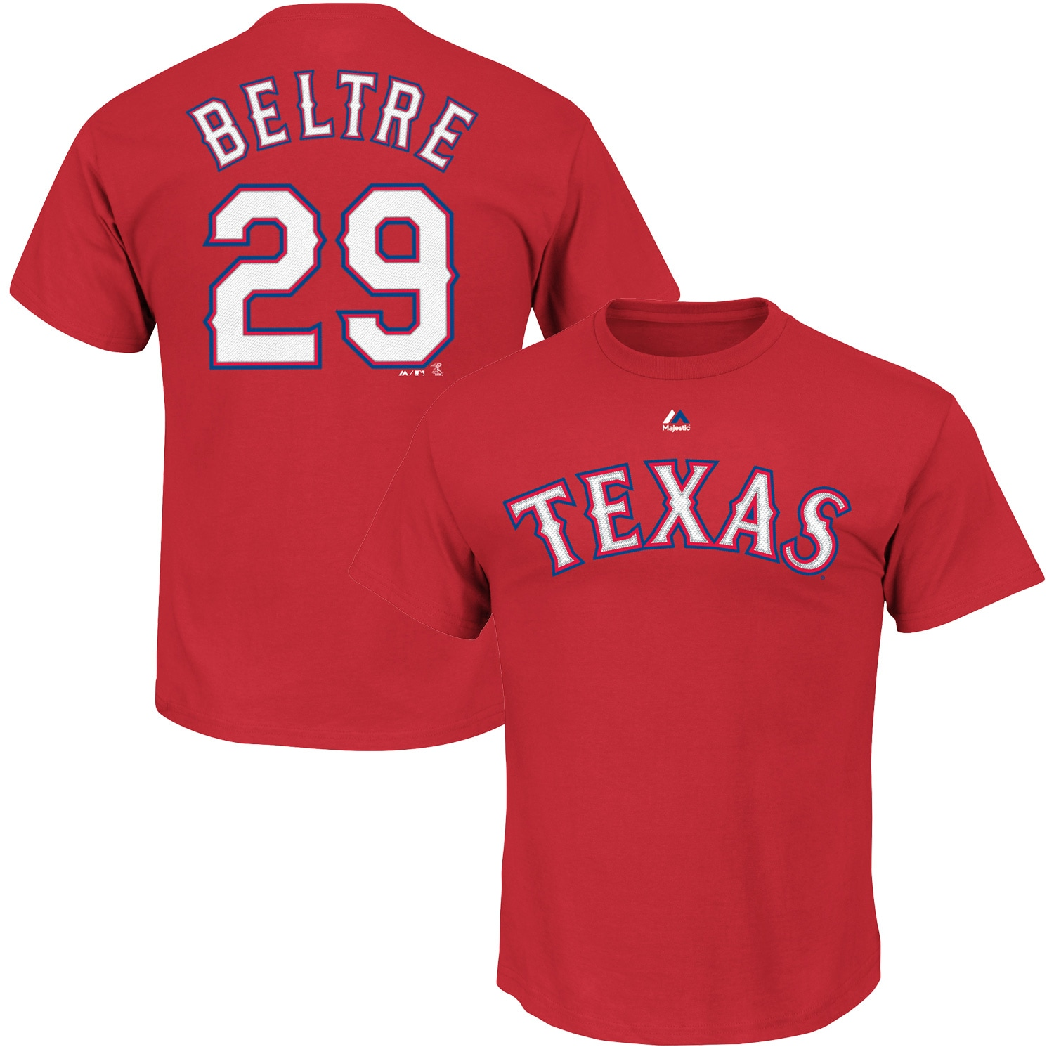 Adrian Beltre Texas Rangers Majestic Big & Tall Official Player T-Shirt - Red