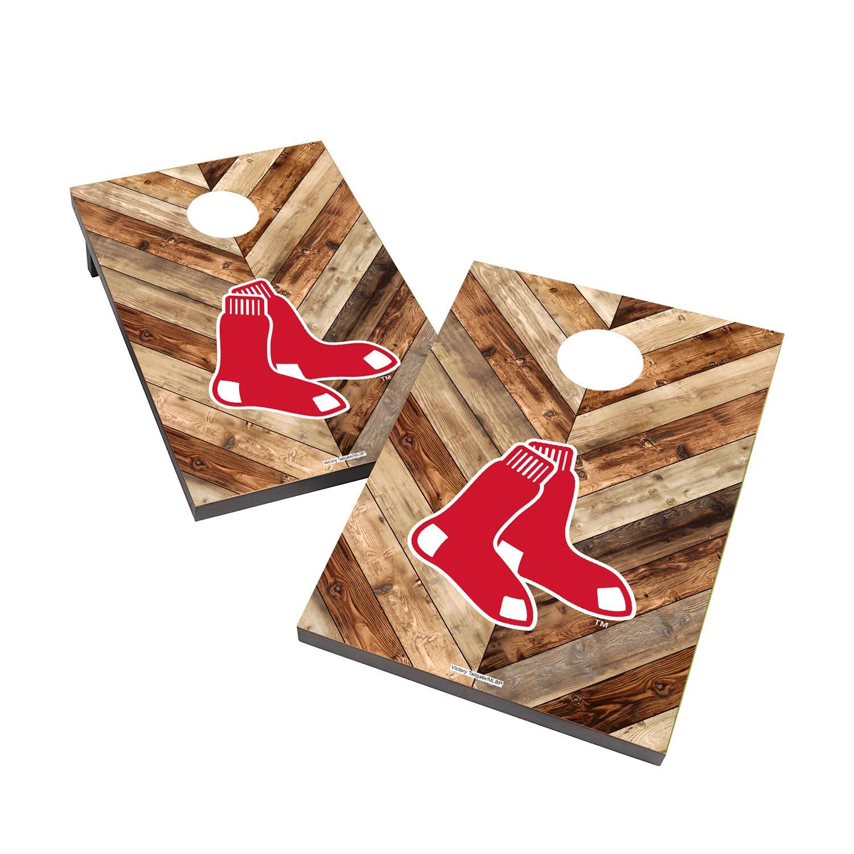 Boston Red Sox 2' x 3' Logo Cornhole Board Tailgate Toss Set