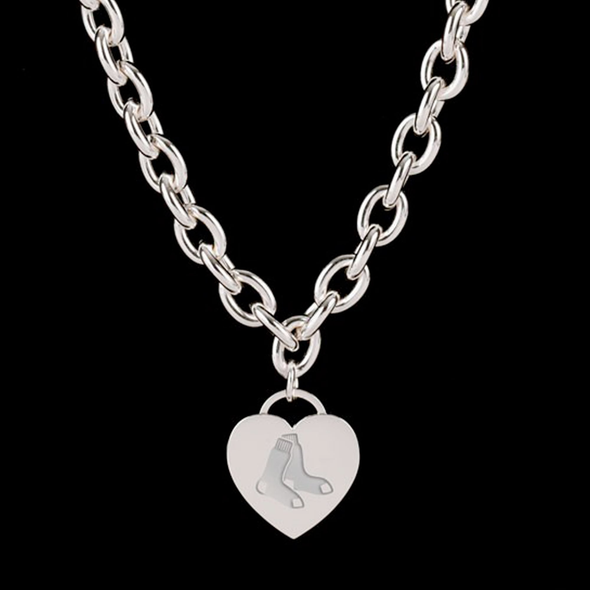 Boston Red Sox WinCraft Women's Heart Charm Necklace