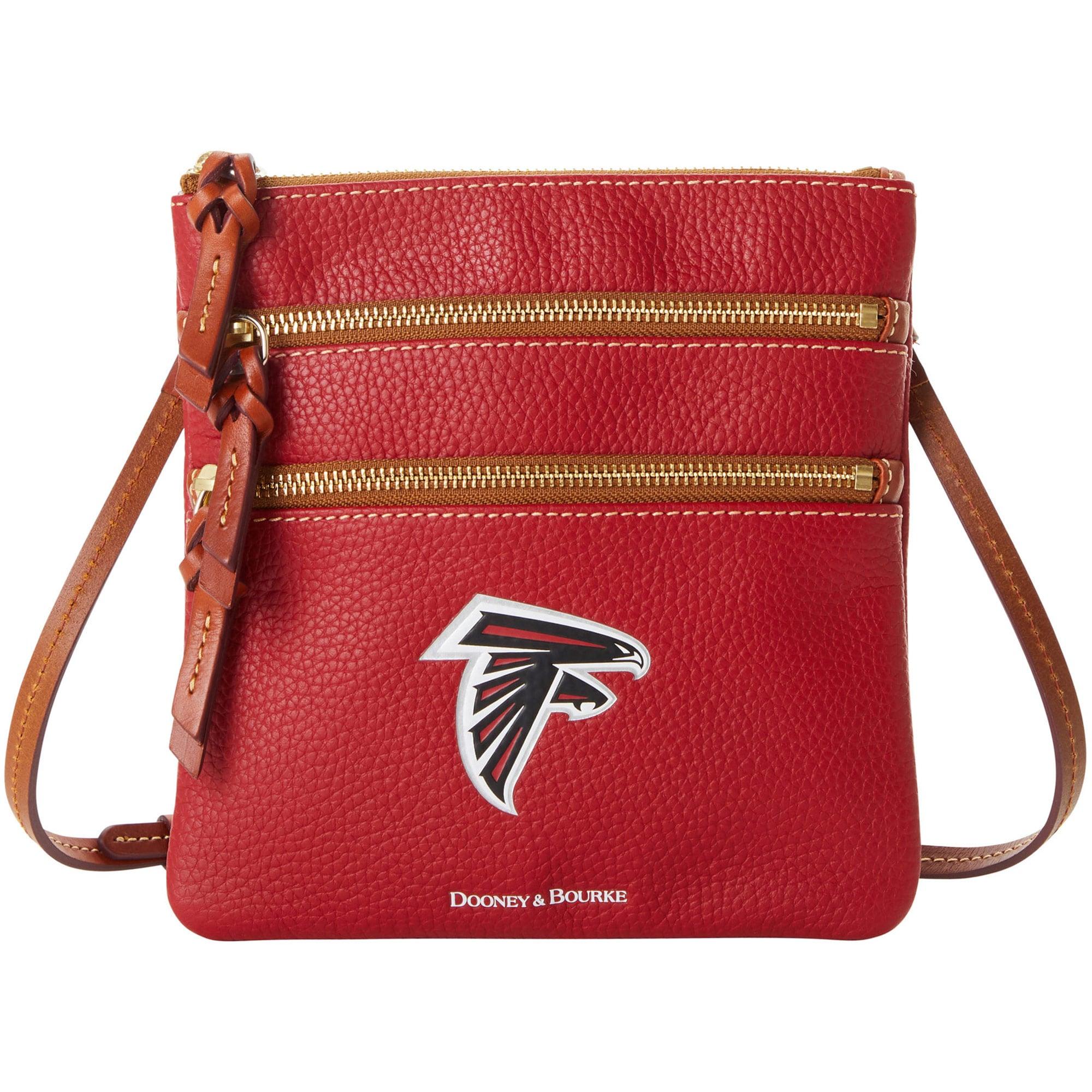 Atlanta Falcons Dooney & Bourke Women's Pebble Triple-Zip Core Crossbody Purse
