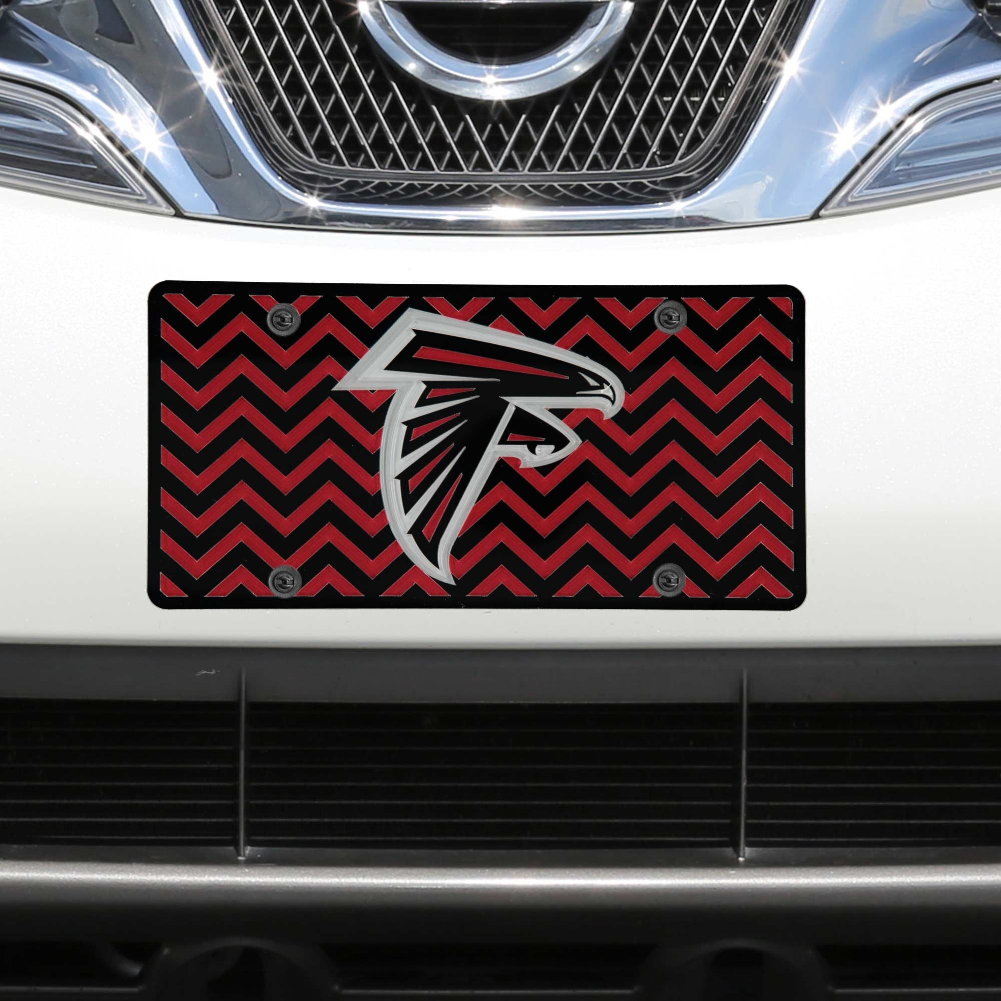 Atlanta Falcons Chevron Acrylic Laser Cut Plate