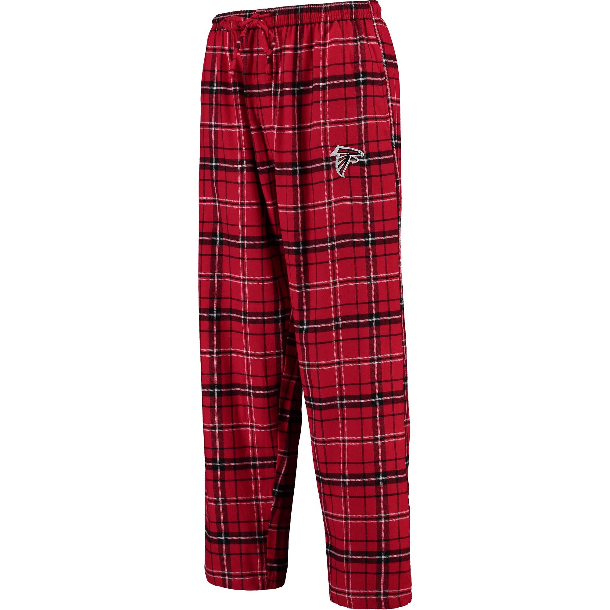Atlanta Falcons Concepts Sport Men's Ultimate Plaid Flannel Pants - Red/Black