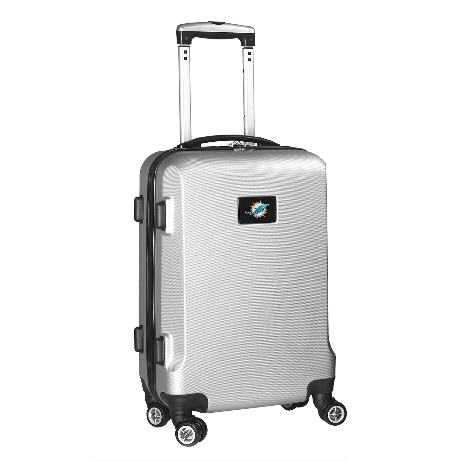 "Miami Dolphins 21"" 8-Wheel Hardcase Spinner Carry-On - Silver"