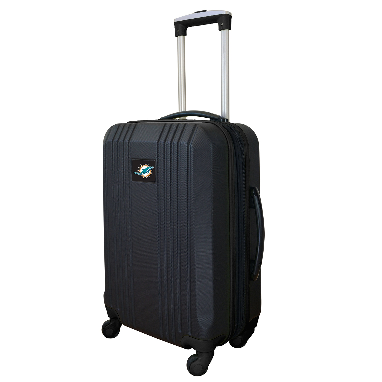 """Miami Dolphins 21"""" Hardcase Two-Tone Spinner Carry-On - Black"""