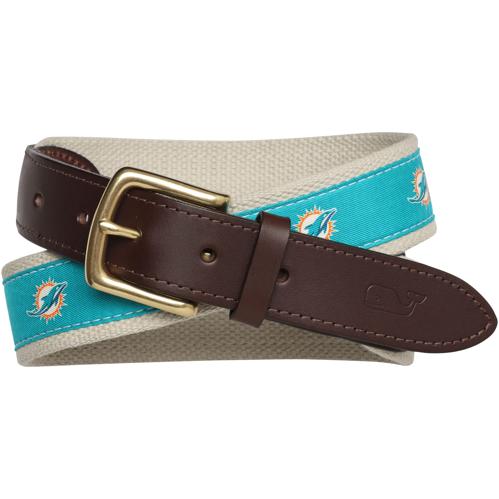 Miami Dolphins Vineyard Vines NFL Belt - Aqua
