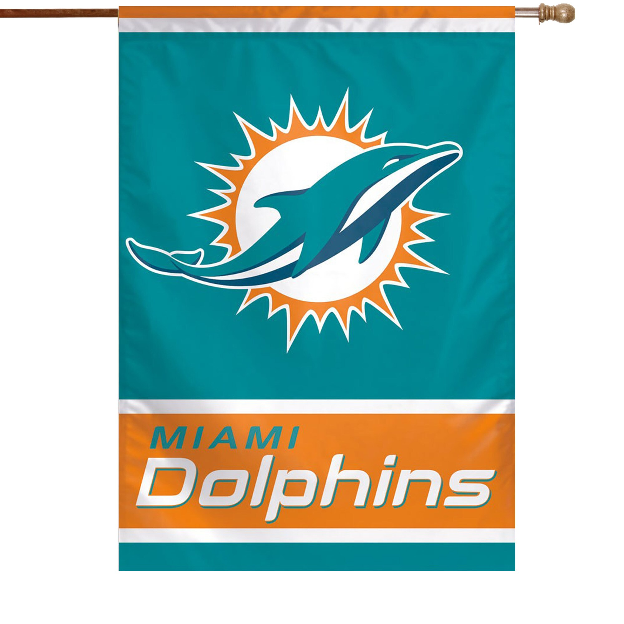 "Miami Dolphins WinCraft 28"" x 40"" Primary Logo House Flag"