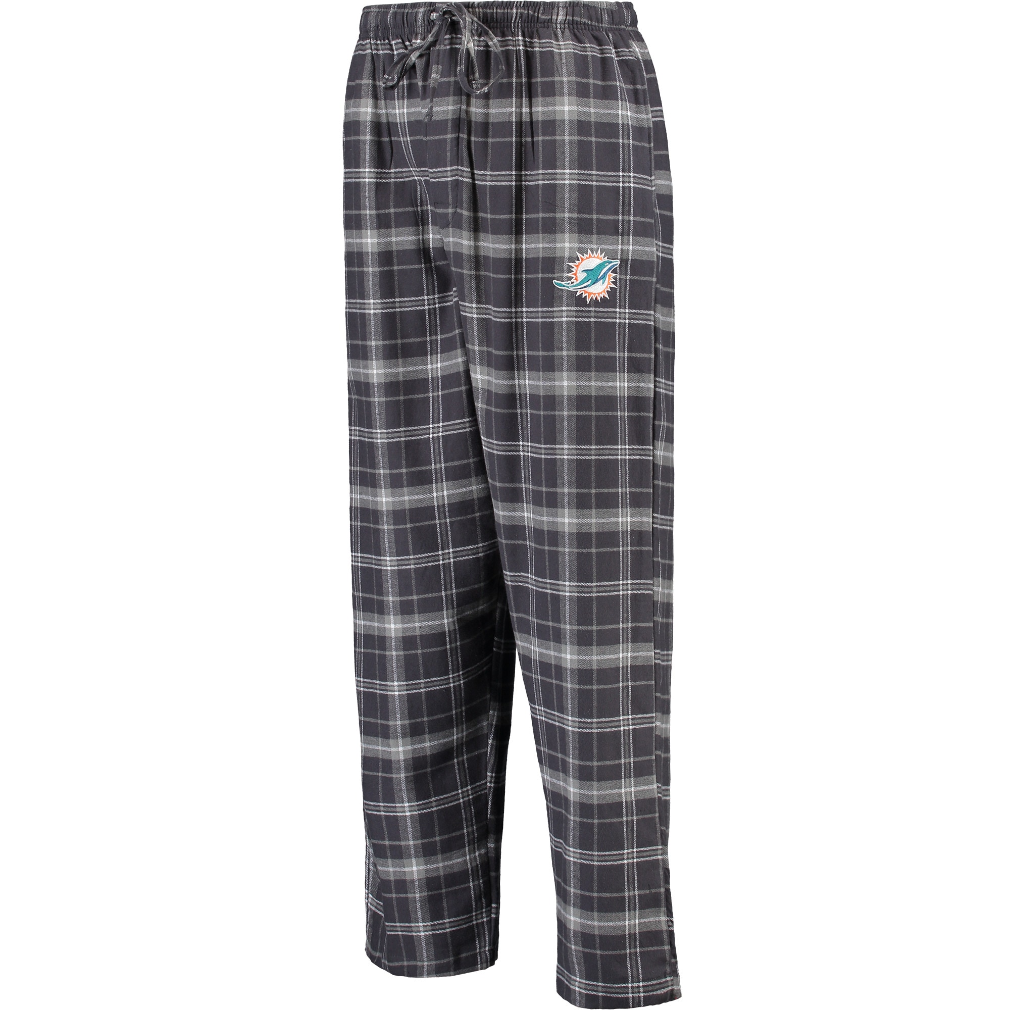 Miami Dolphins Concepts Sport Ultimate Plaid Flannel Pajama Pants - Charcoal