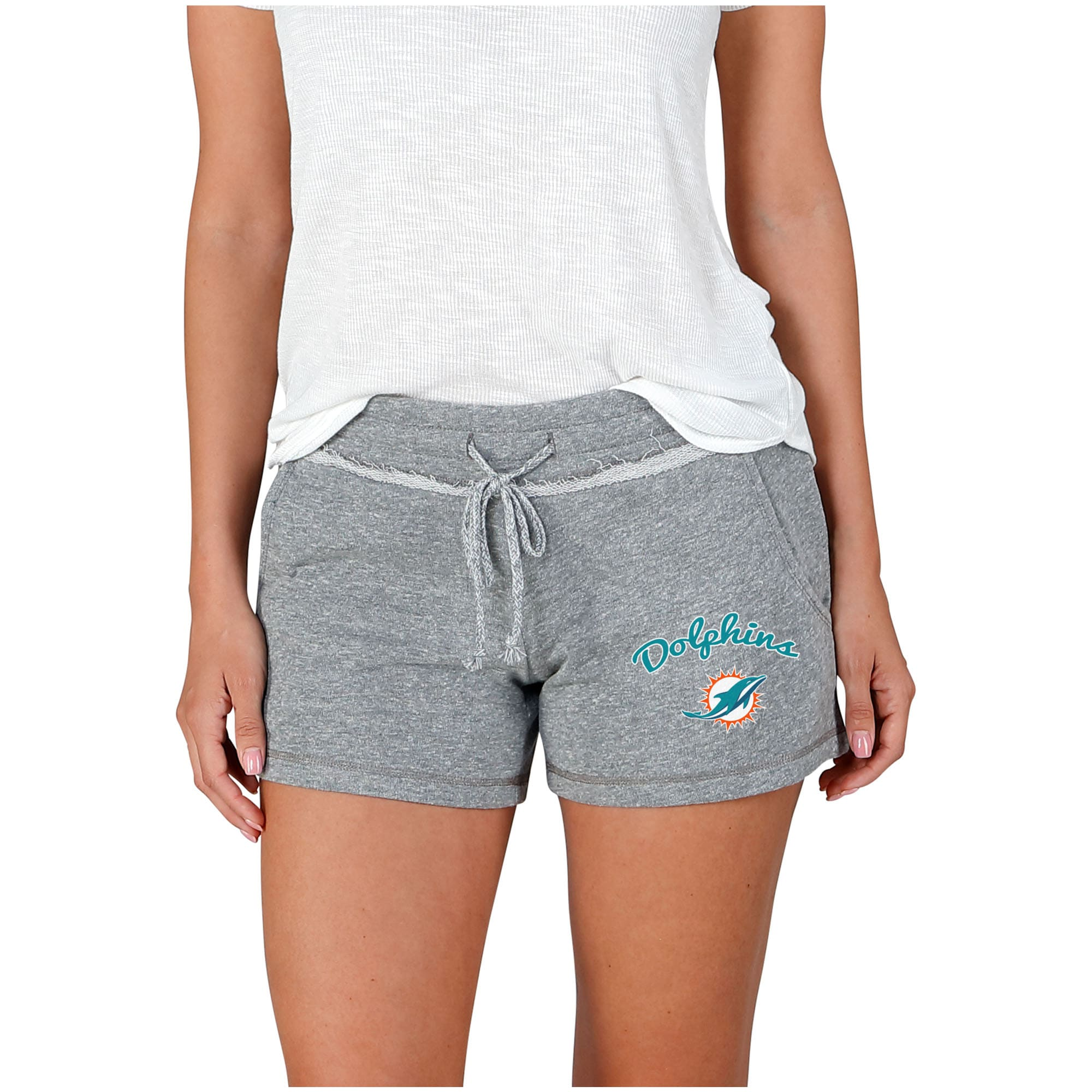 Miami Dolphins Concepts Sport Women's Mainstream Terry Shorts - Gray