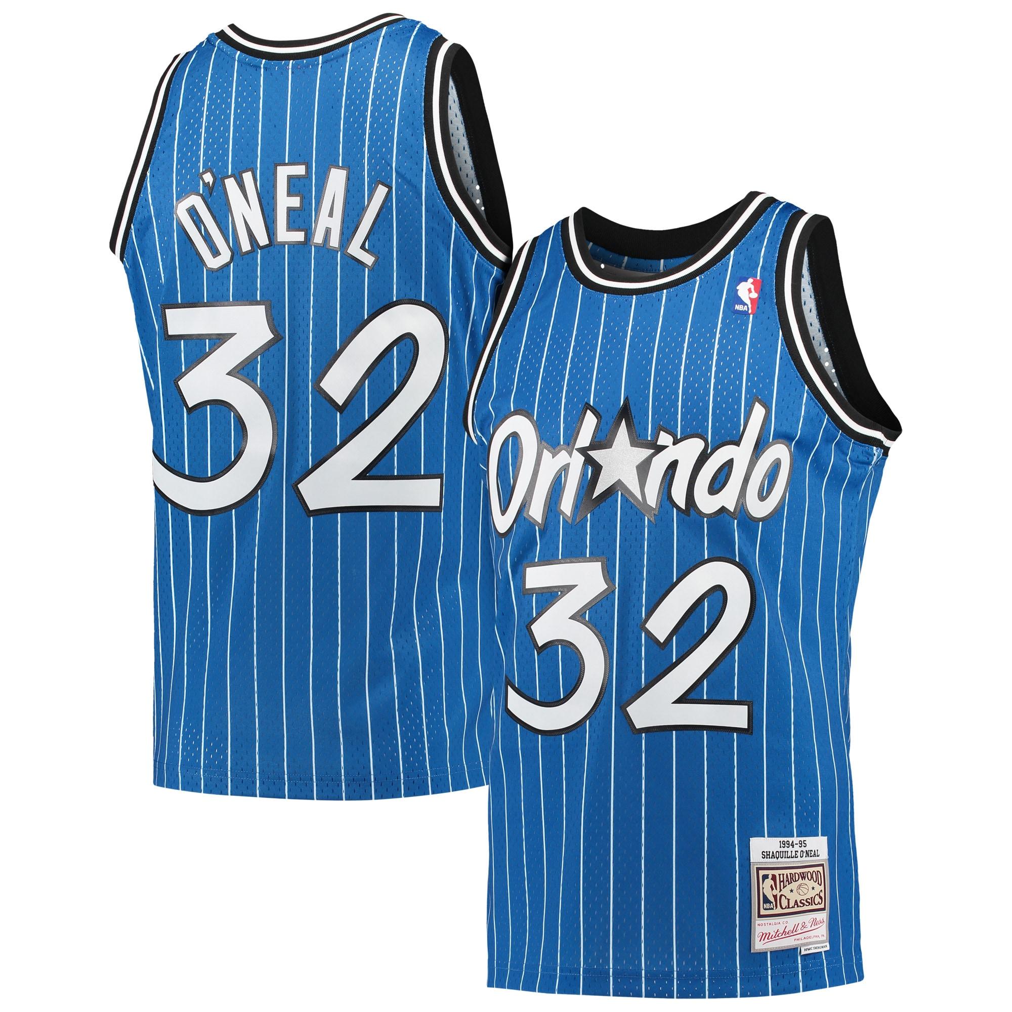 Shaquille O'Neal Orlando Magic Mitchell & Ness Hardwood Classics 1994-95 Swingman Jersey - Blue