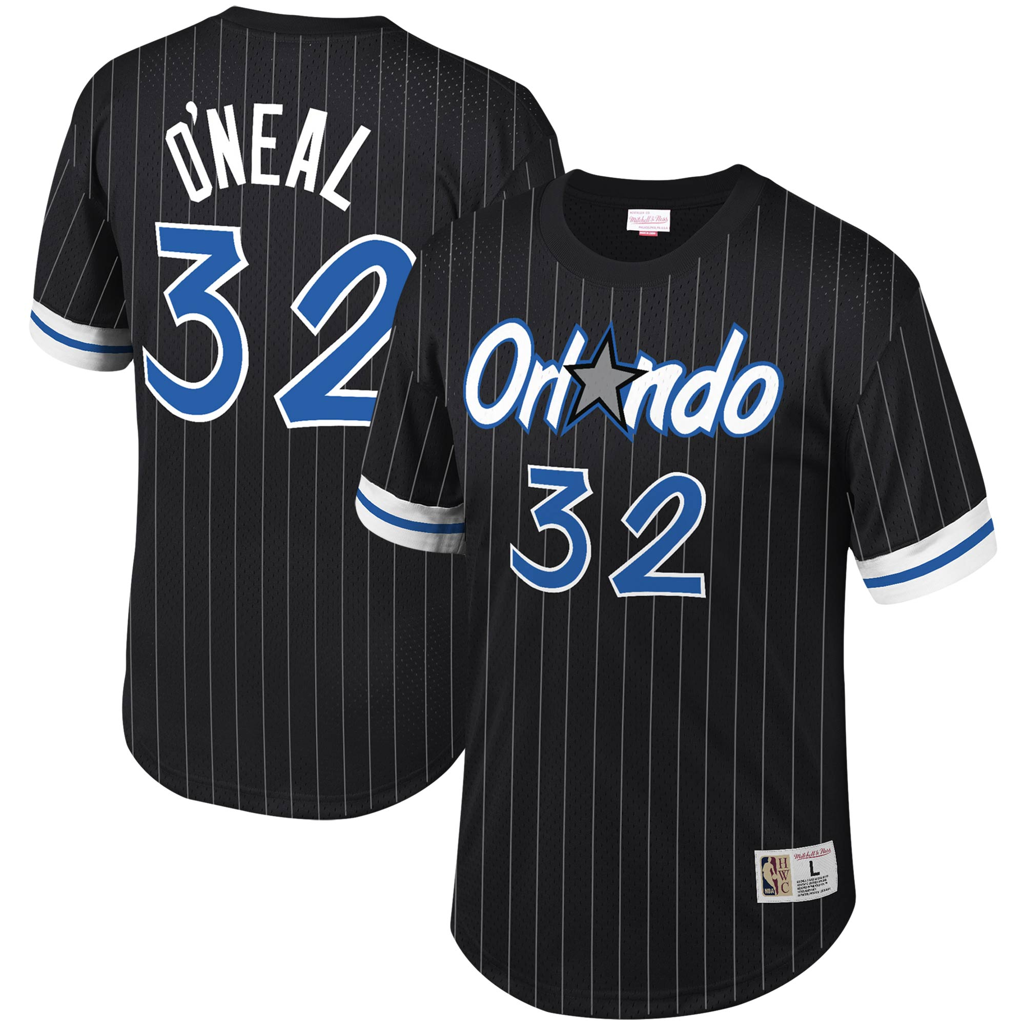 Shaquille O'Neal Orlando Magic Mitchell & Ness Mesh T-Shirt - Black
