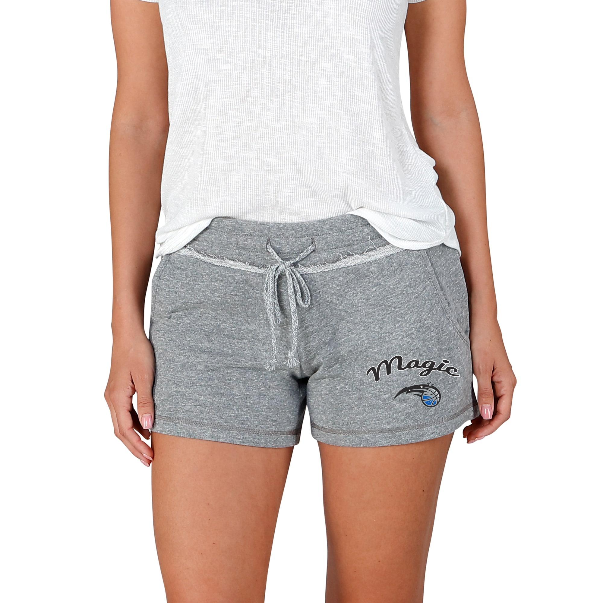 Orlando Magic Concepts Sport Women's Mainstream Terry Shorts - Gray