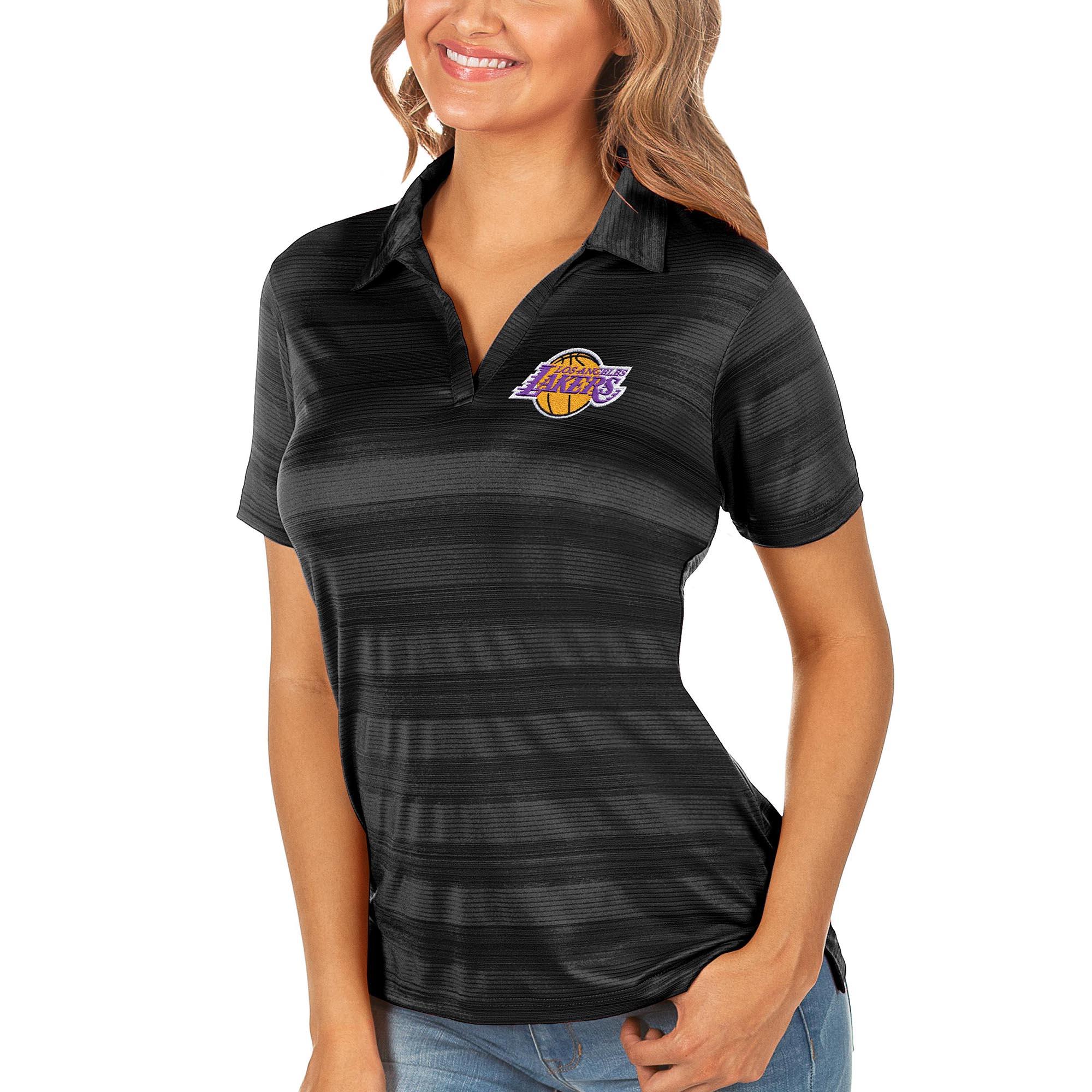 Los Angeles Lakers Antigua Women's Compass Polo - Black