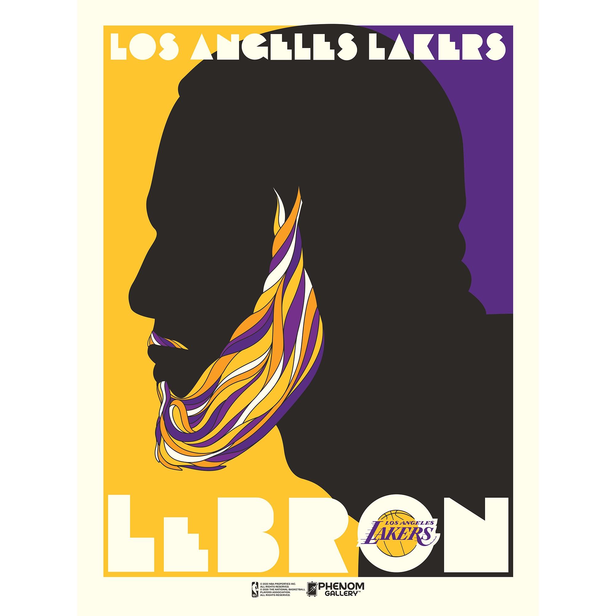 LeBron James Los Angeles Lakers 18'' x 24'' Push Glass Serigraph