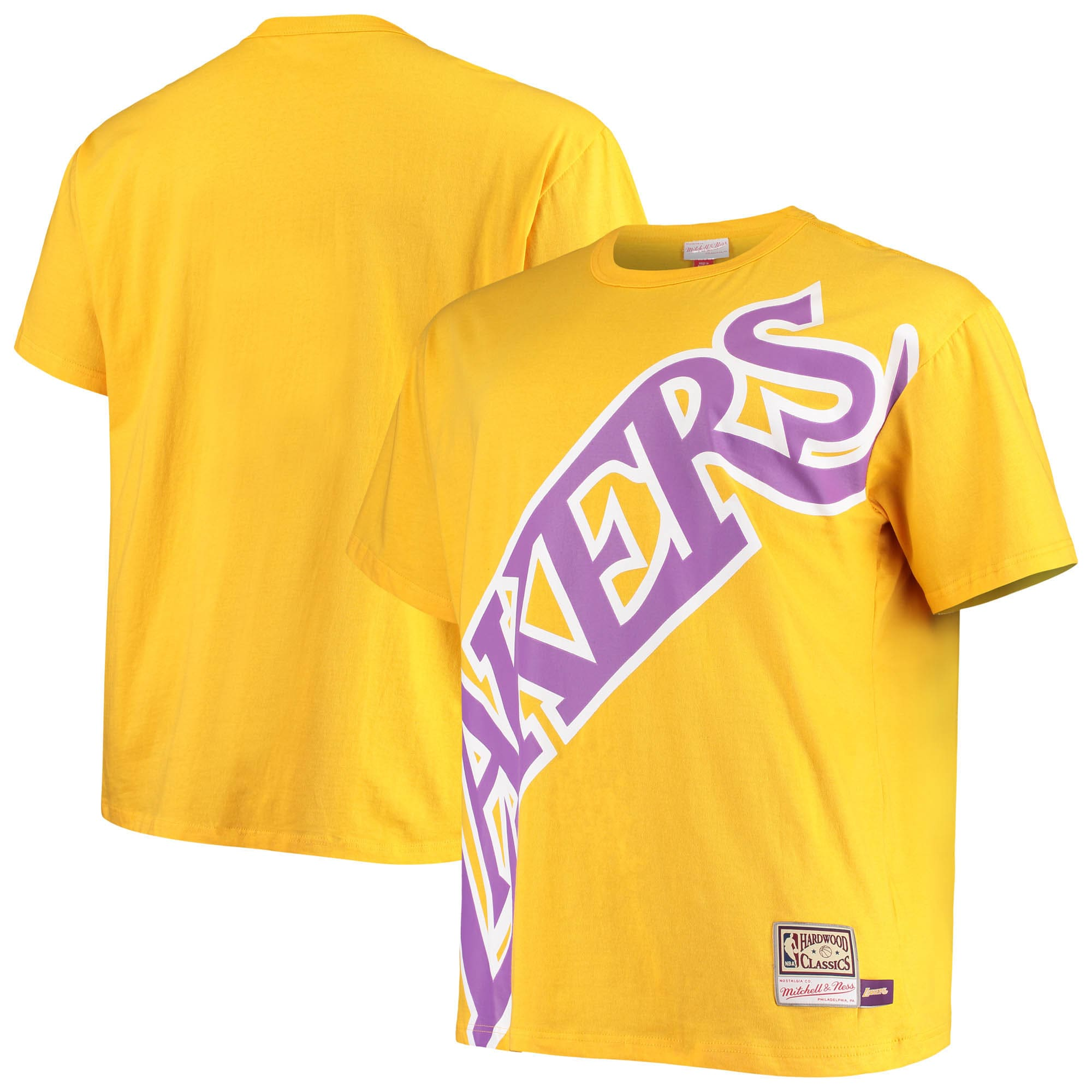 Los Angeles Lakers Mitchell & Ness Big & Tall Face T-Shirt - Gold