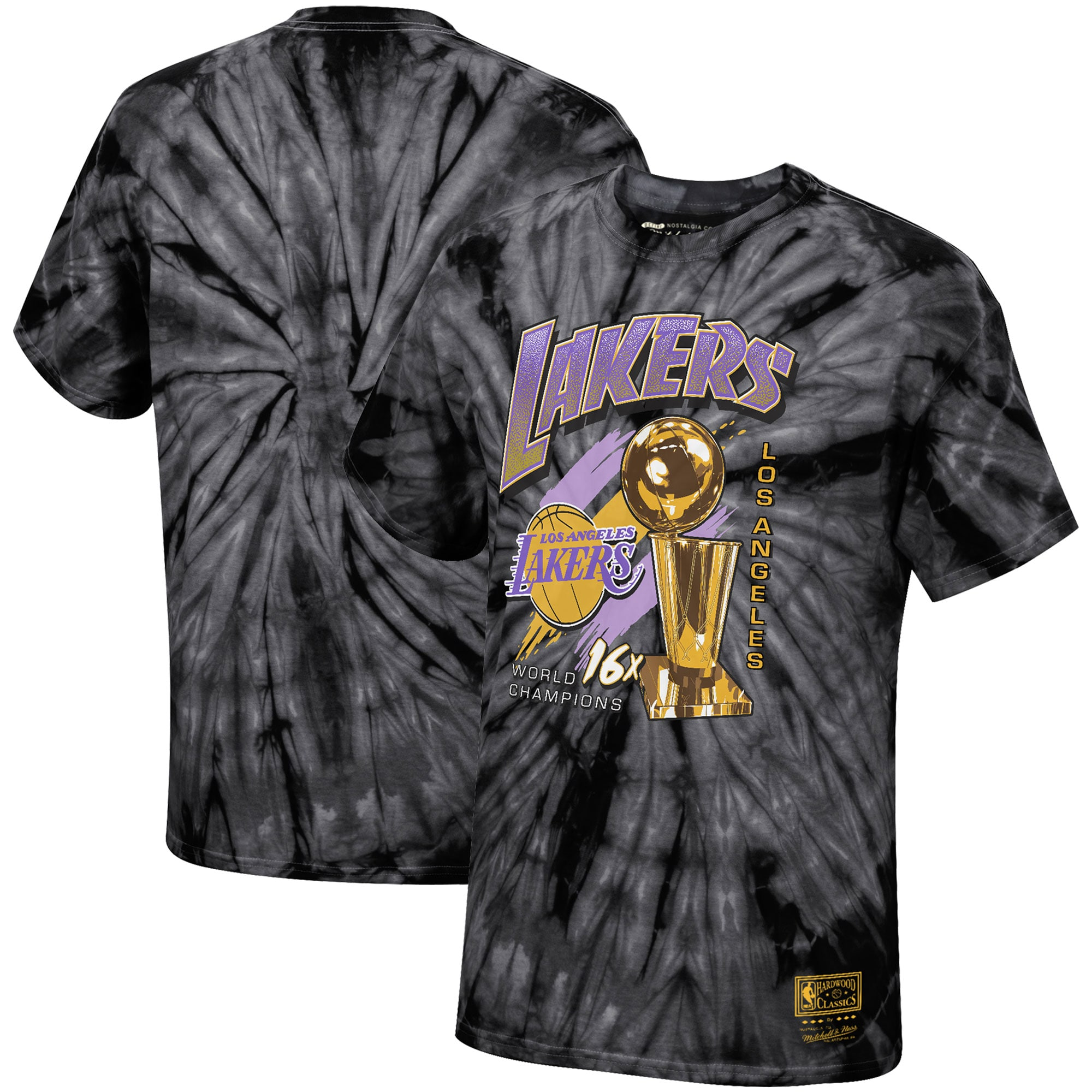 Los Angeles Lakers Mitchell & Ness Hardwood Classics Streak of Championships T-Shirt - Black