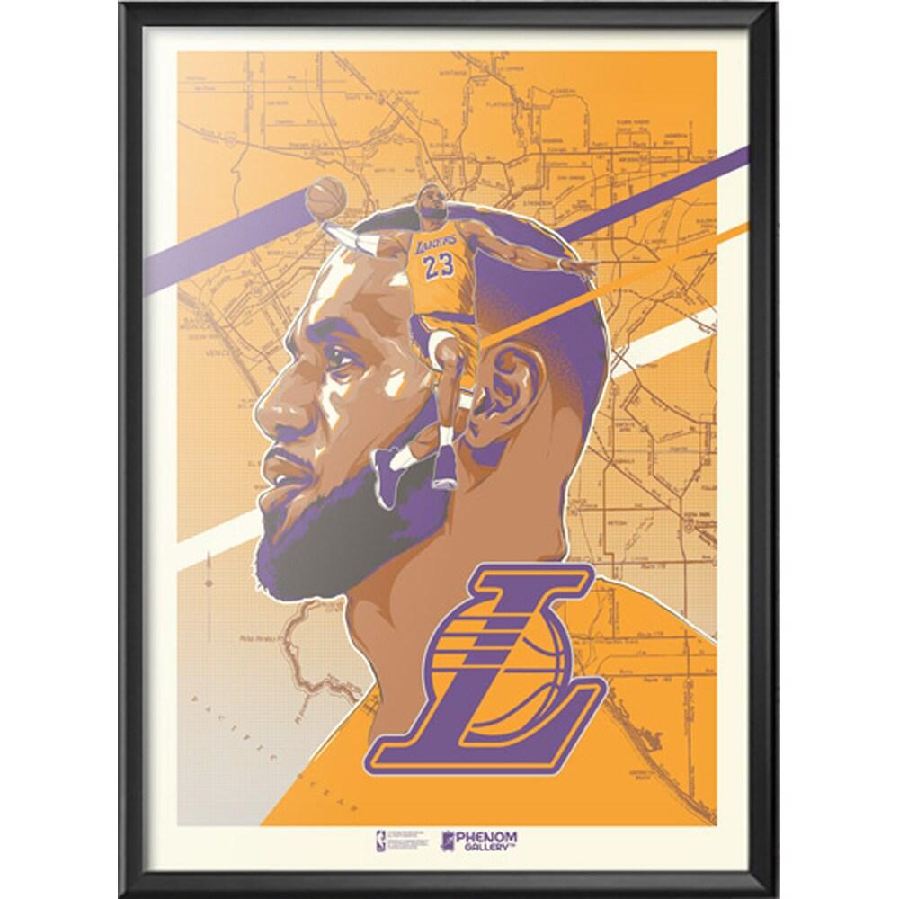 LeBron James Los Angeles Lakers 18'' x 24'' Framed Serigraph