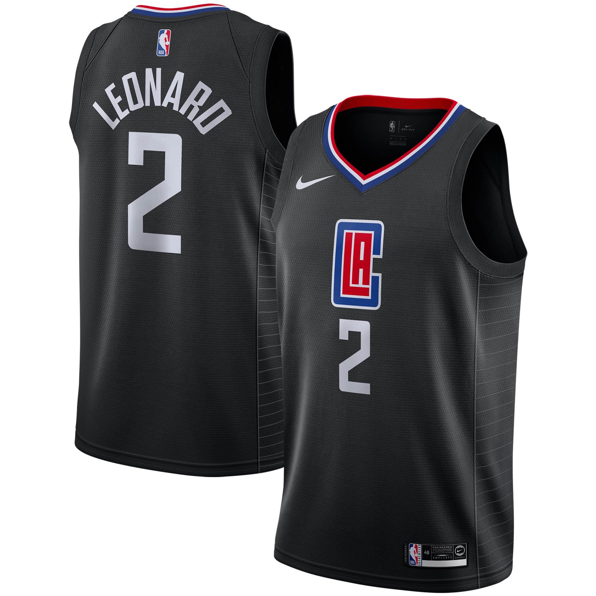 Kawhi Leonard LA Clippers Nike 2019/2020 Swingman Jersey - Statement Edition - Black
