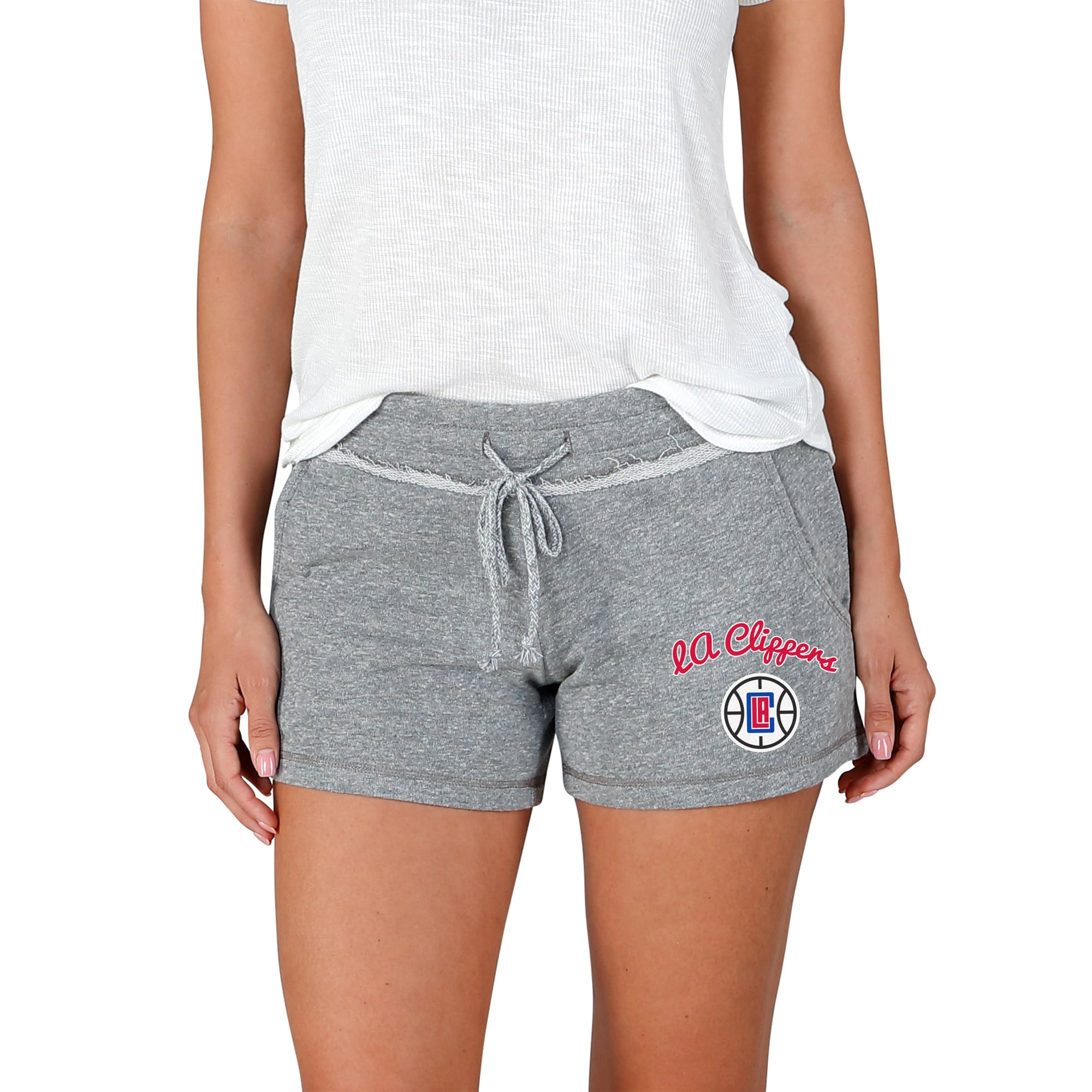 LA Clippers Concepts Sport Women's Mainstream Terry Shorts - Gray