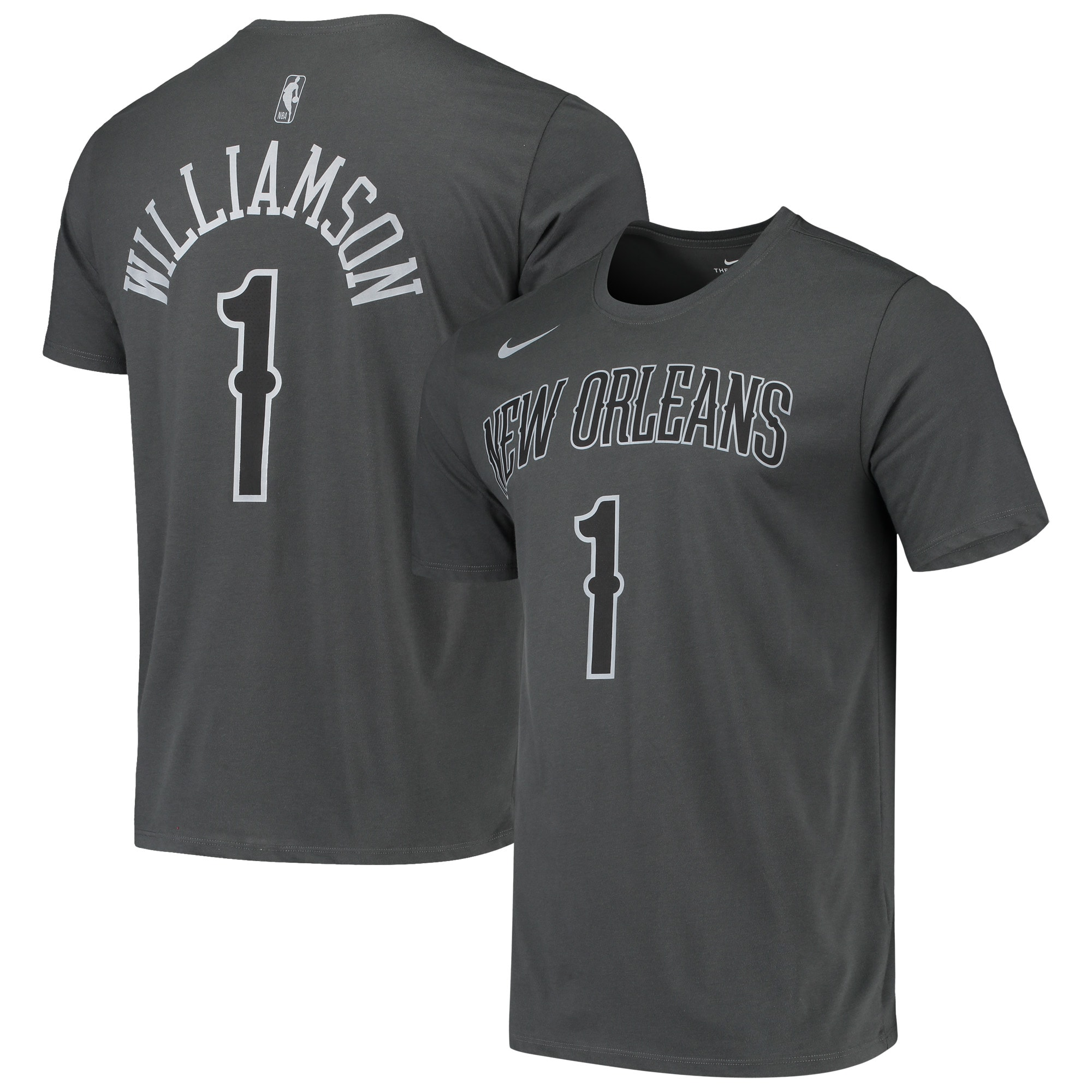 Zion Williamson New Orleans Pelicans Nike Icon Performance T-Shirt - Gray
