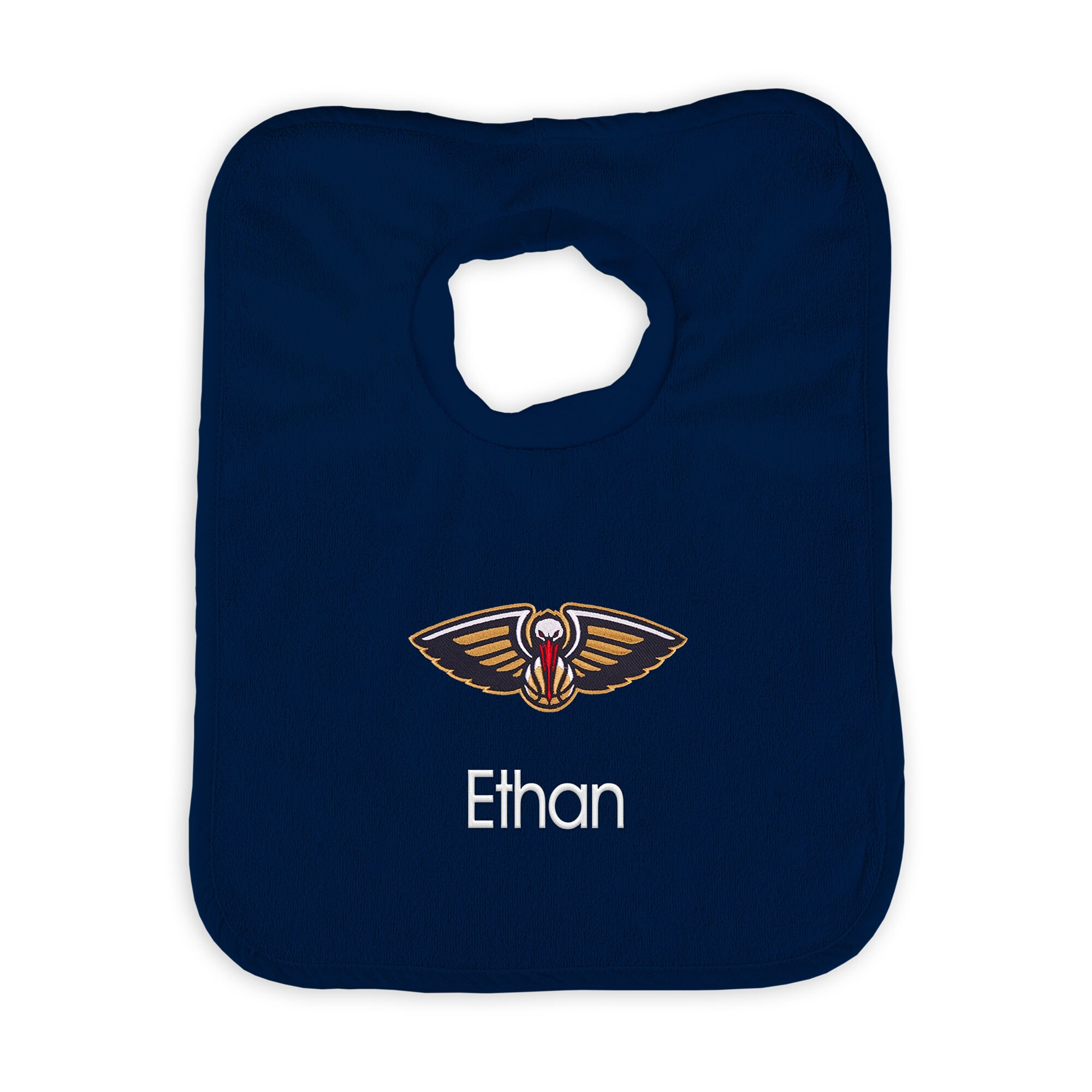 New Orleans Pelicans Infant Personalized Bib - Navy