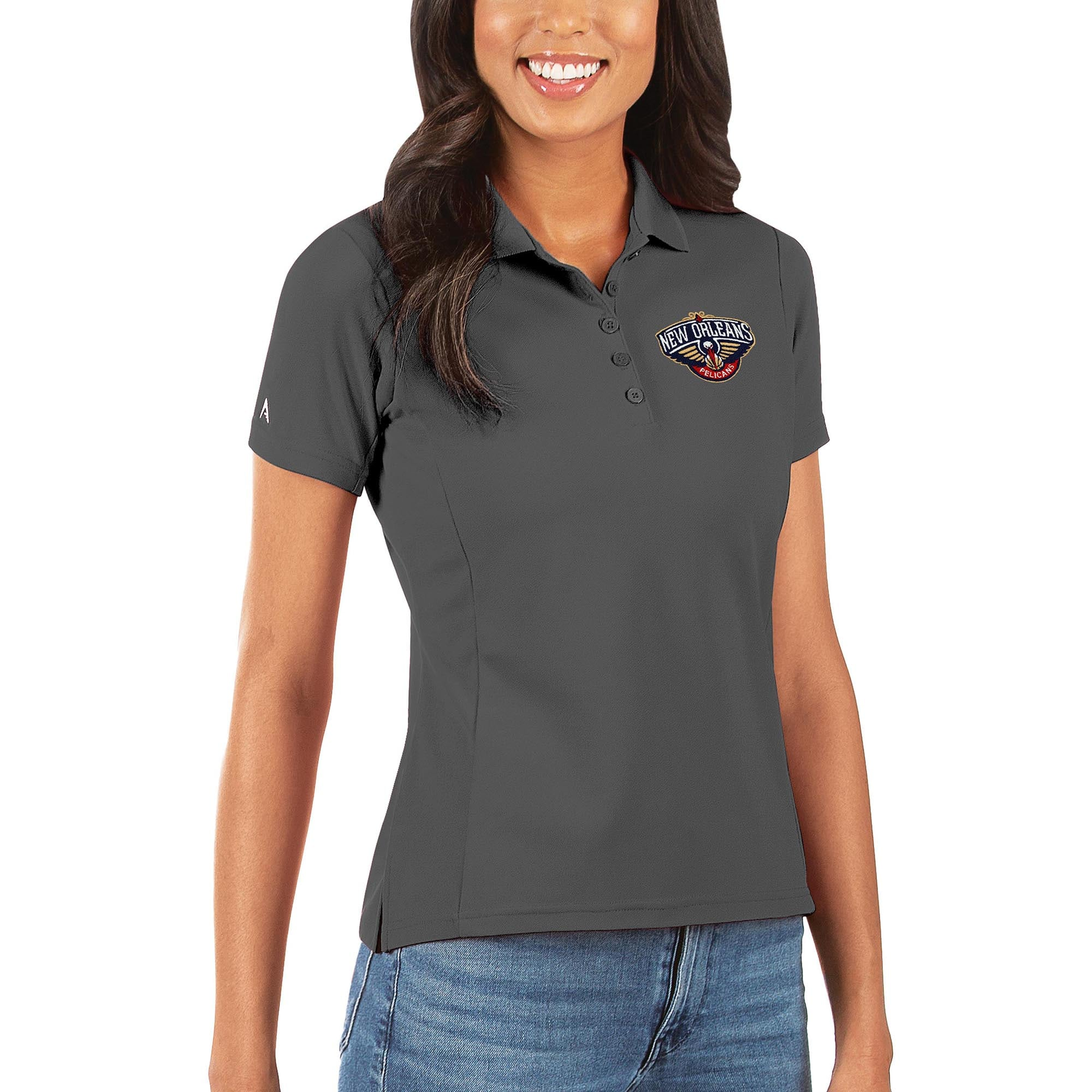 New Orleans Pelicans Antigua Women's Legacy Pique Polo - Gray