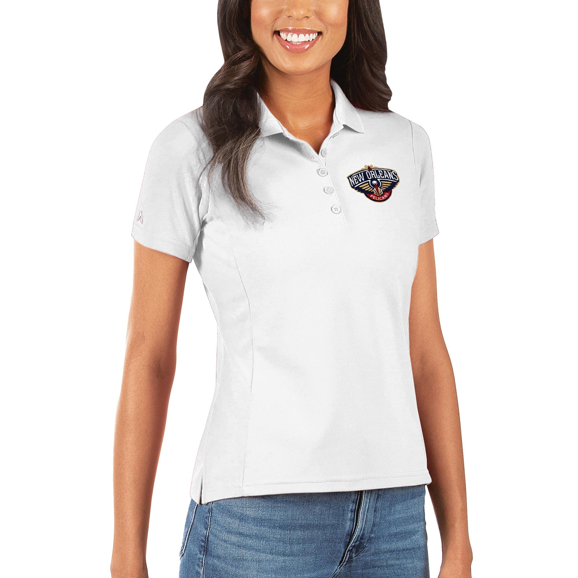 New Orleans Pelicans Antigua Women's Legacy Pique Polo - White