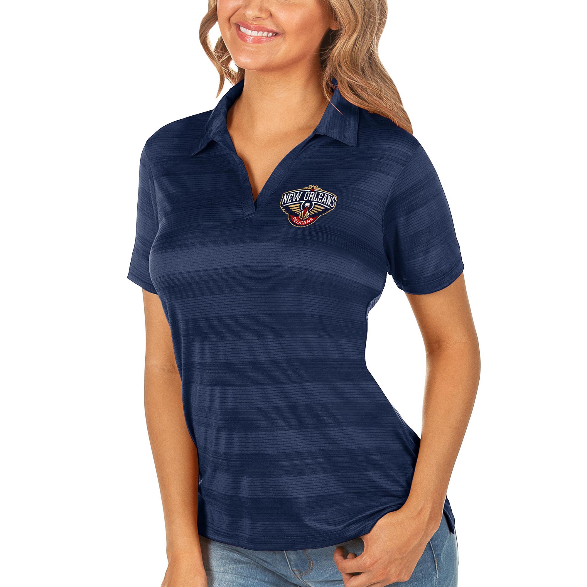 New Orleans Pelicans Antigua Women's Compass Polo - Navy